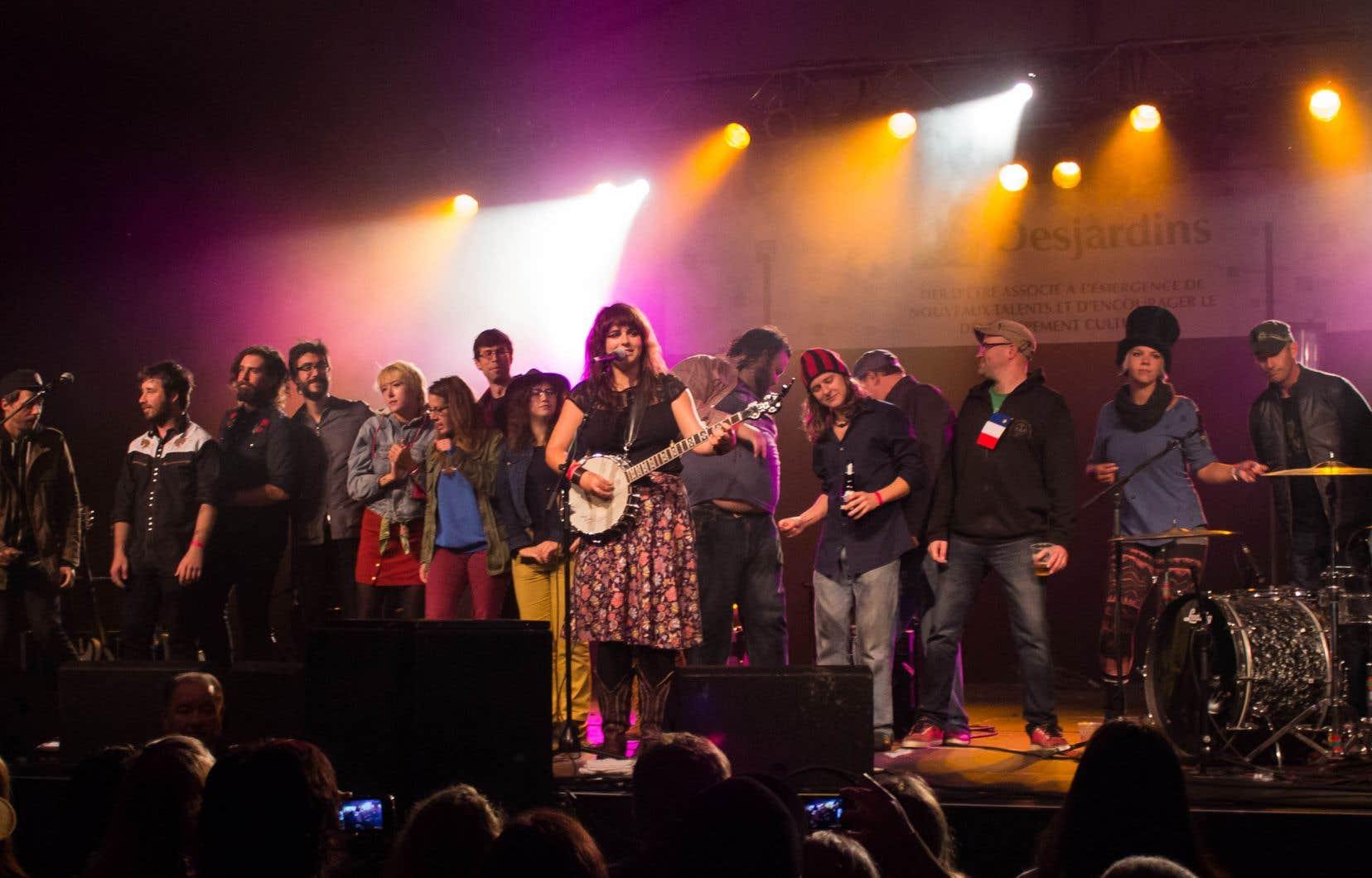 Finale de la soirée acadienne au Festival international de la chanson de Granby 2013, place Johnson