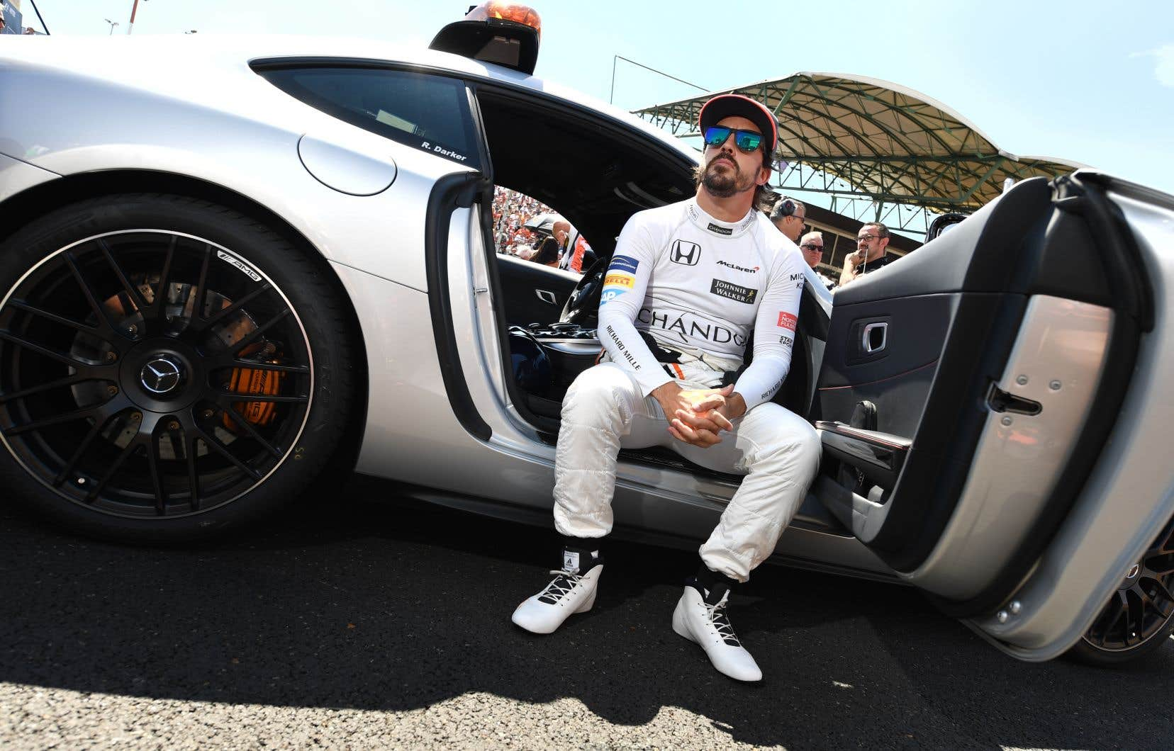 Le pilote Fernando Alonso lors du Grand Prix de Hongrie en juillet 2017.L'écurie McLaren a confirmé que l'Espagnol ne sera pas de retour en F1 l'an prochain.