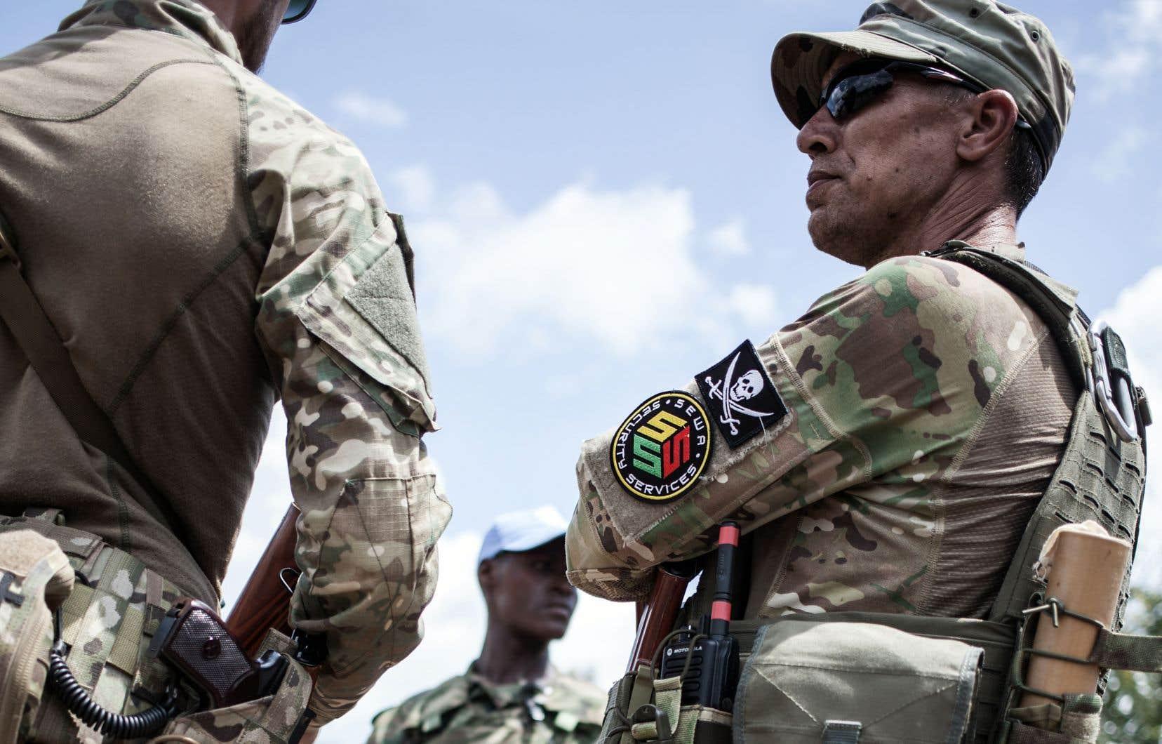 Une entreprise russe, Sewa sécurité, assurait la protection du président de la République de Centrafrique, Faustin-Archange Touadéra, à Berengole 4 août dernier.