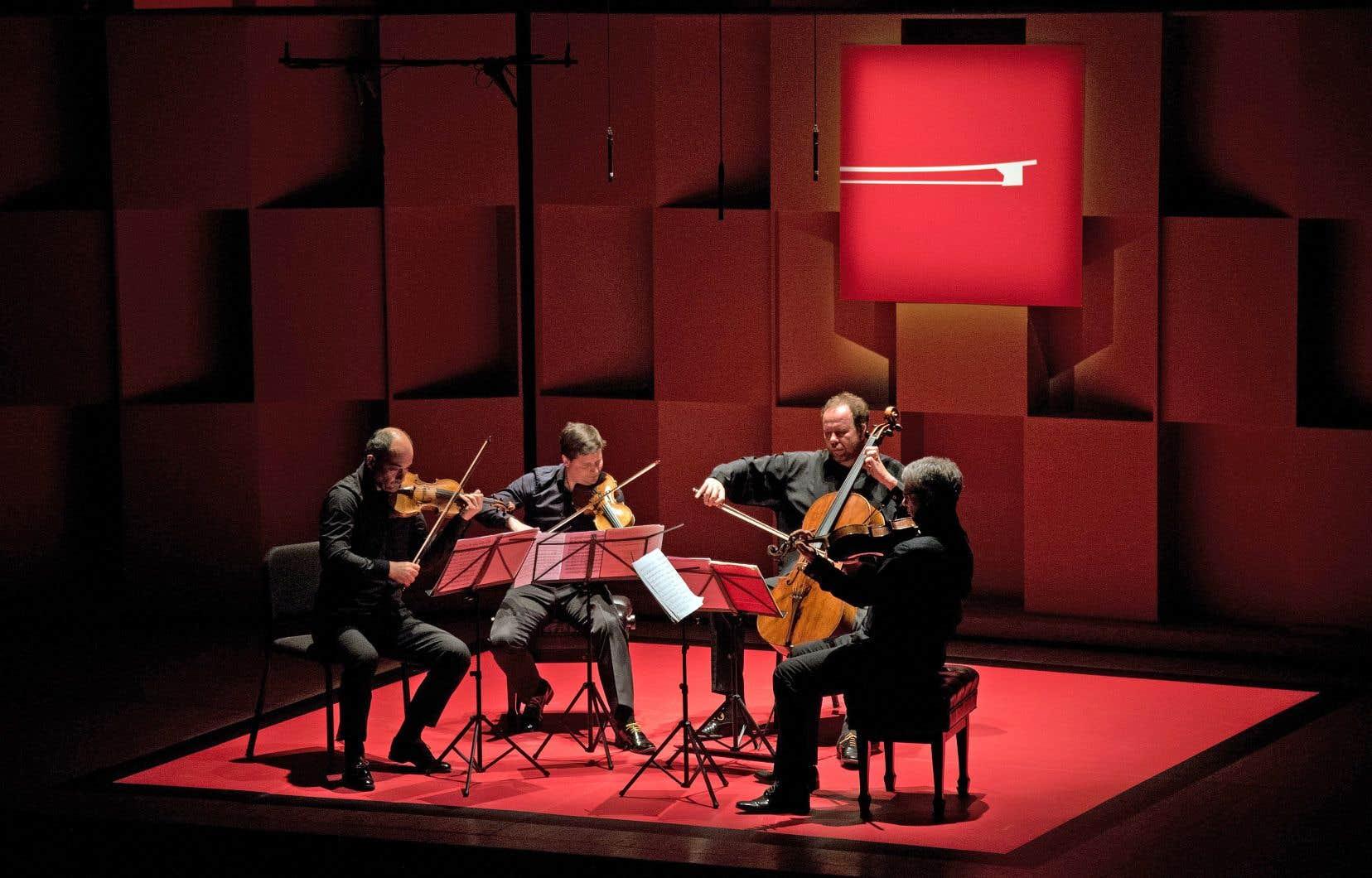 Le Quatuor Talich lors de son concert à la salle Pollack, le 12 août