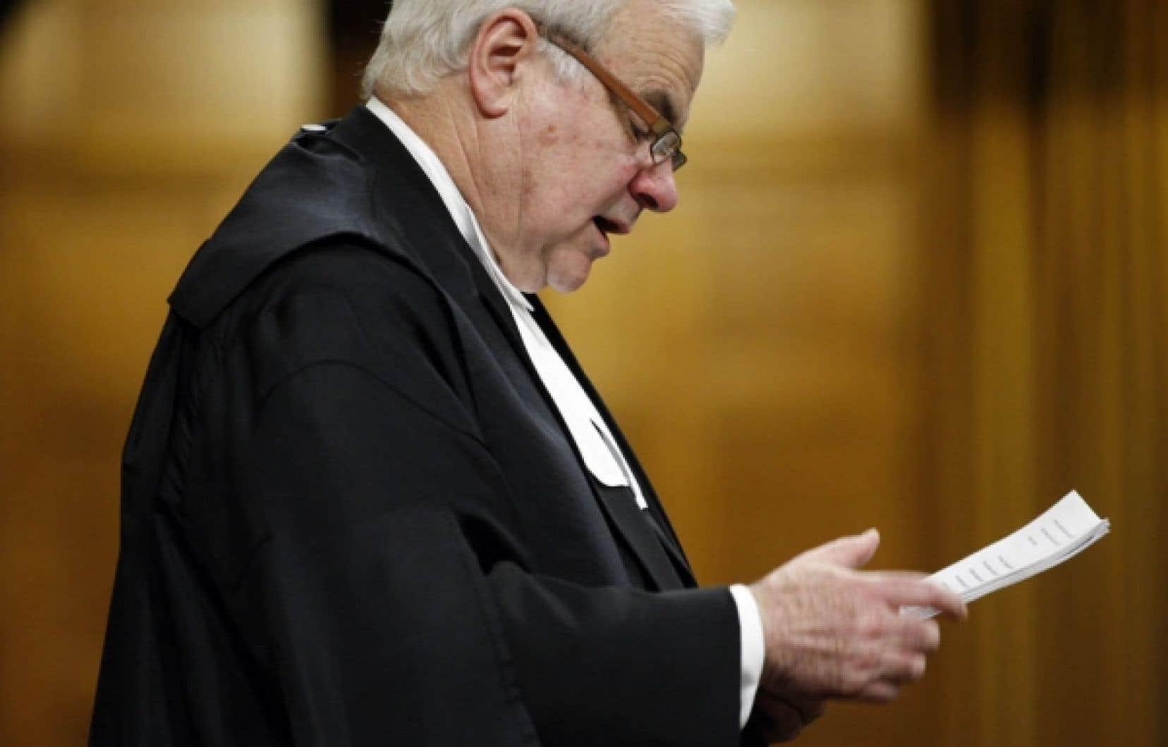 Le président de la Chambre des communes, Peter Milliken, a rappelé hier, dans une décision très attendue, que le Parlement détient le privilège incontestable d'obliger le gouvernement à rendre compte de ses actes.