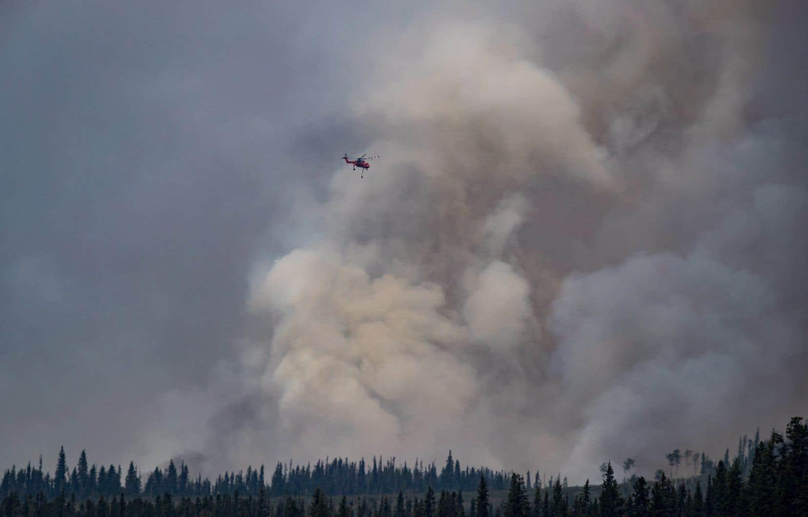 Quelque 1500 propriétés et 3000 personnes font l'objet d'un ordre d'évacuation et plus de 560 incendies de forêt sont actifs dans la province.