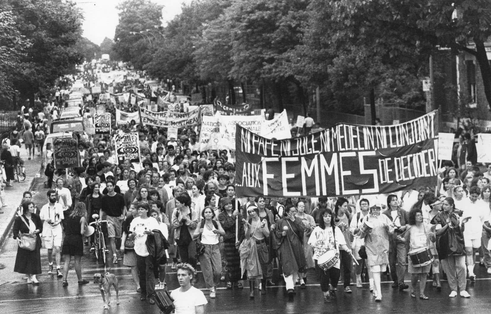 Jeanne Sainte-Amour «fait partie de cette cohorte de femmes et d'hommes qui ont contribué à faire du Québec un lieu à l'avant-garde mondiale des droits reproductifs des femmes».