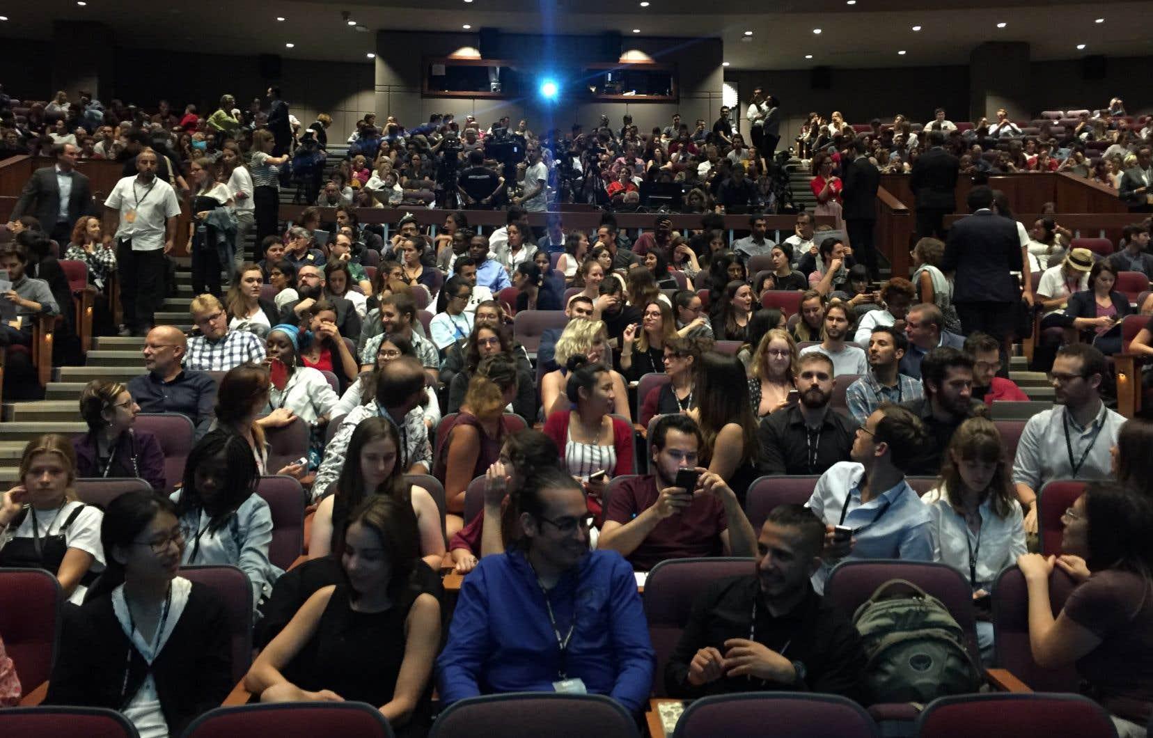 Rassemblés à l'Université Concordia, environ 700 jeunes ont assisté au dialogue entre les quatre chefs politiques.