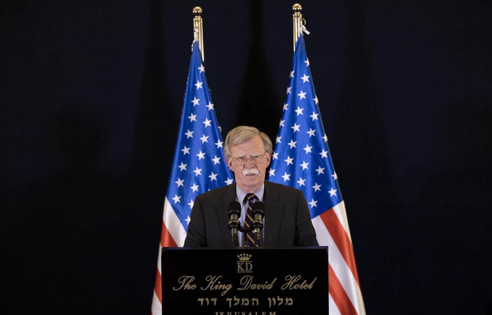 Le conseiller à la sécurité nationale du président Donald Trump, John Bolton