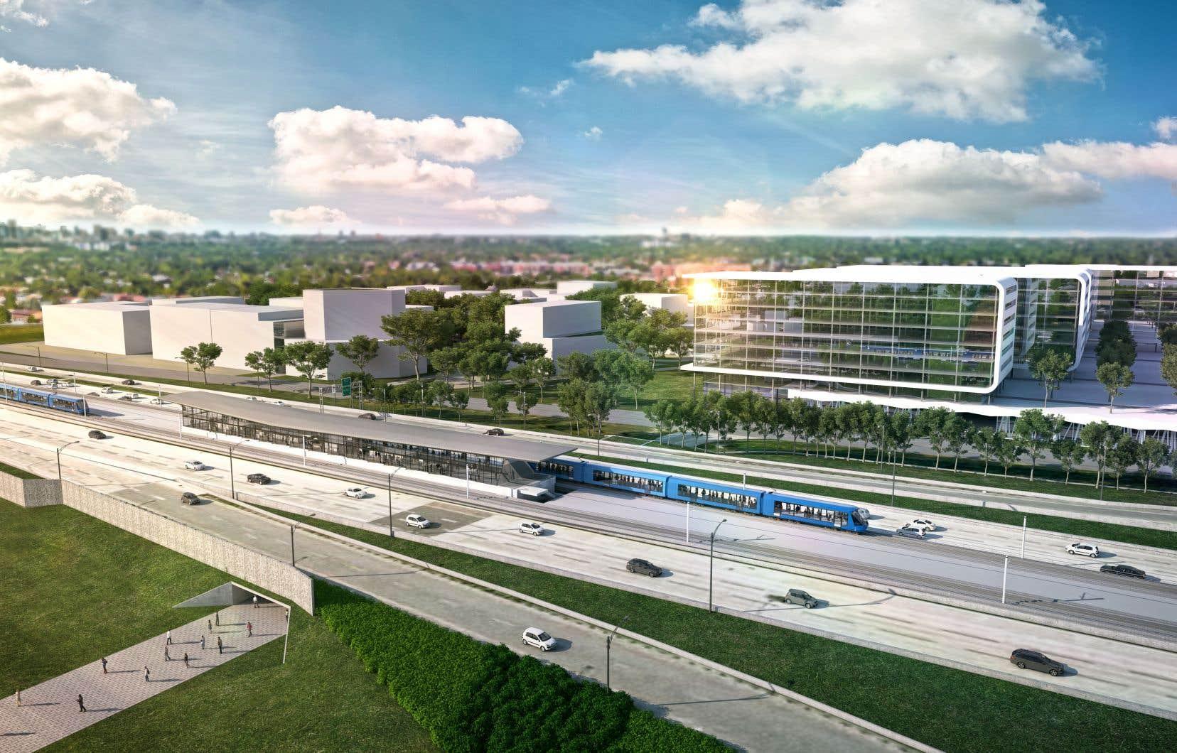 La construction du Réseau express métropolitain a débuté en avril et la Caisse prévoit que les premières rames seront mises en service à l'été 2021.