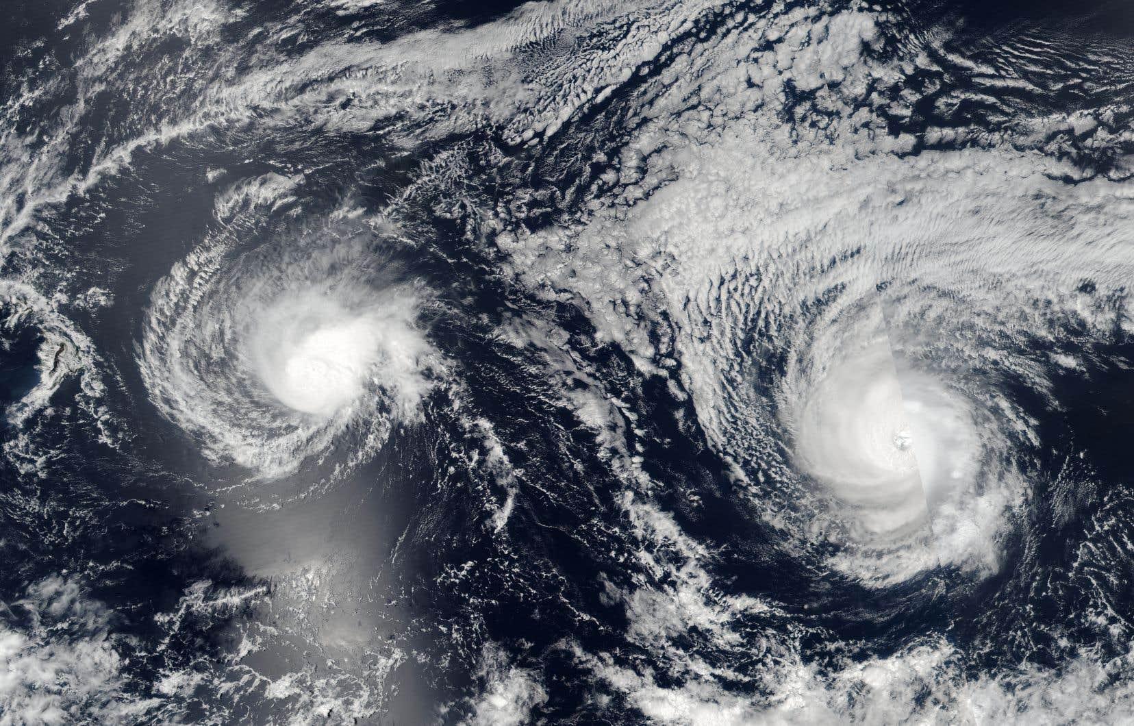 Une image prise par les satellites de la NASA montre l'ouragan «Lane», qui se dirige sur l'archipel américain d'Hawaï.