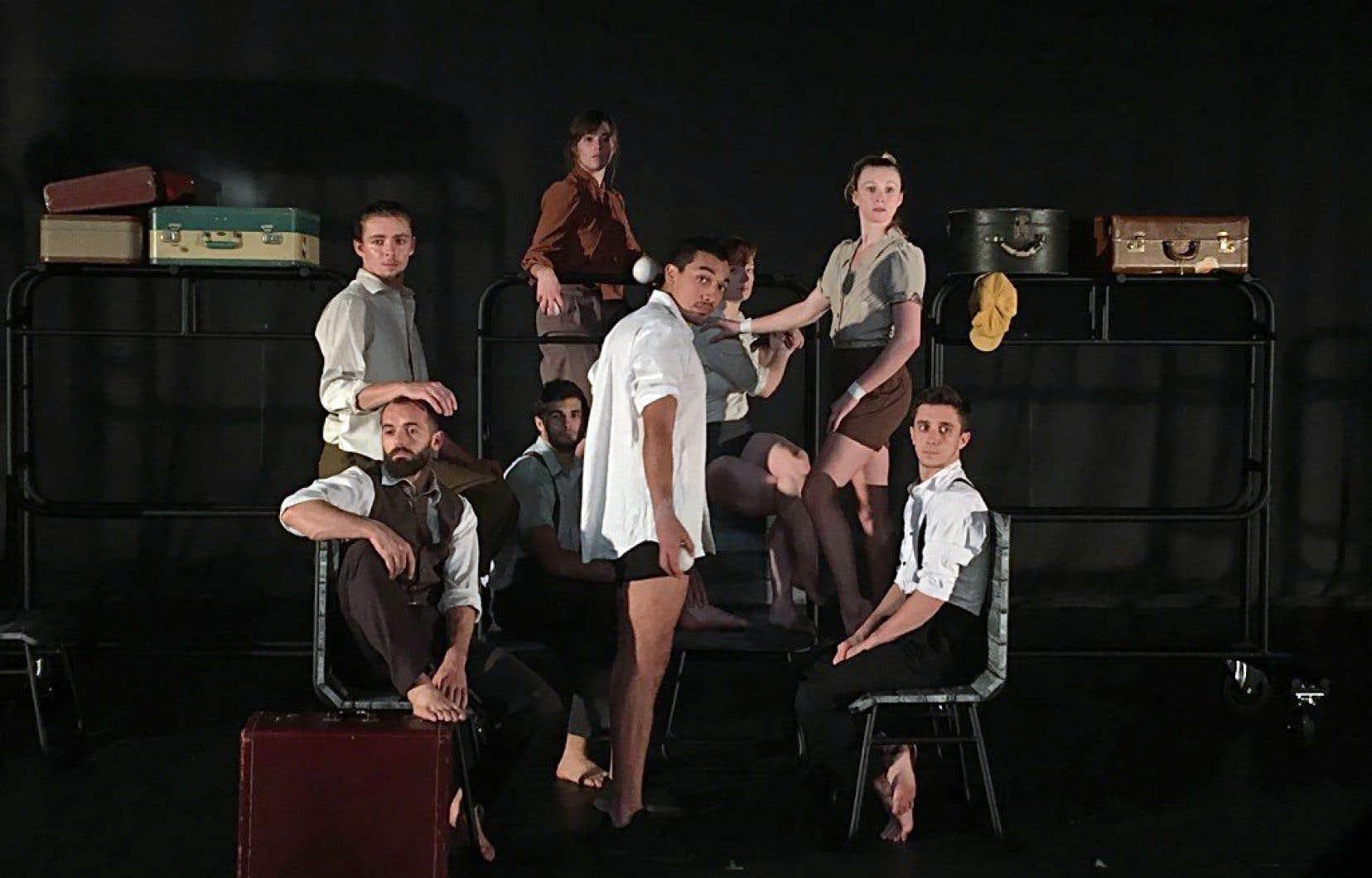La nouvelle production de la compagnie de cirque Les 7 Doigts, intitulée «Passagers», prendra l'affiche cet automne à la Tohu.