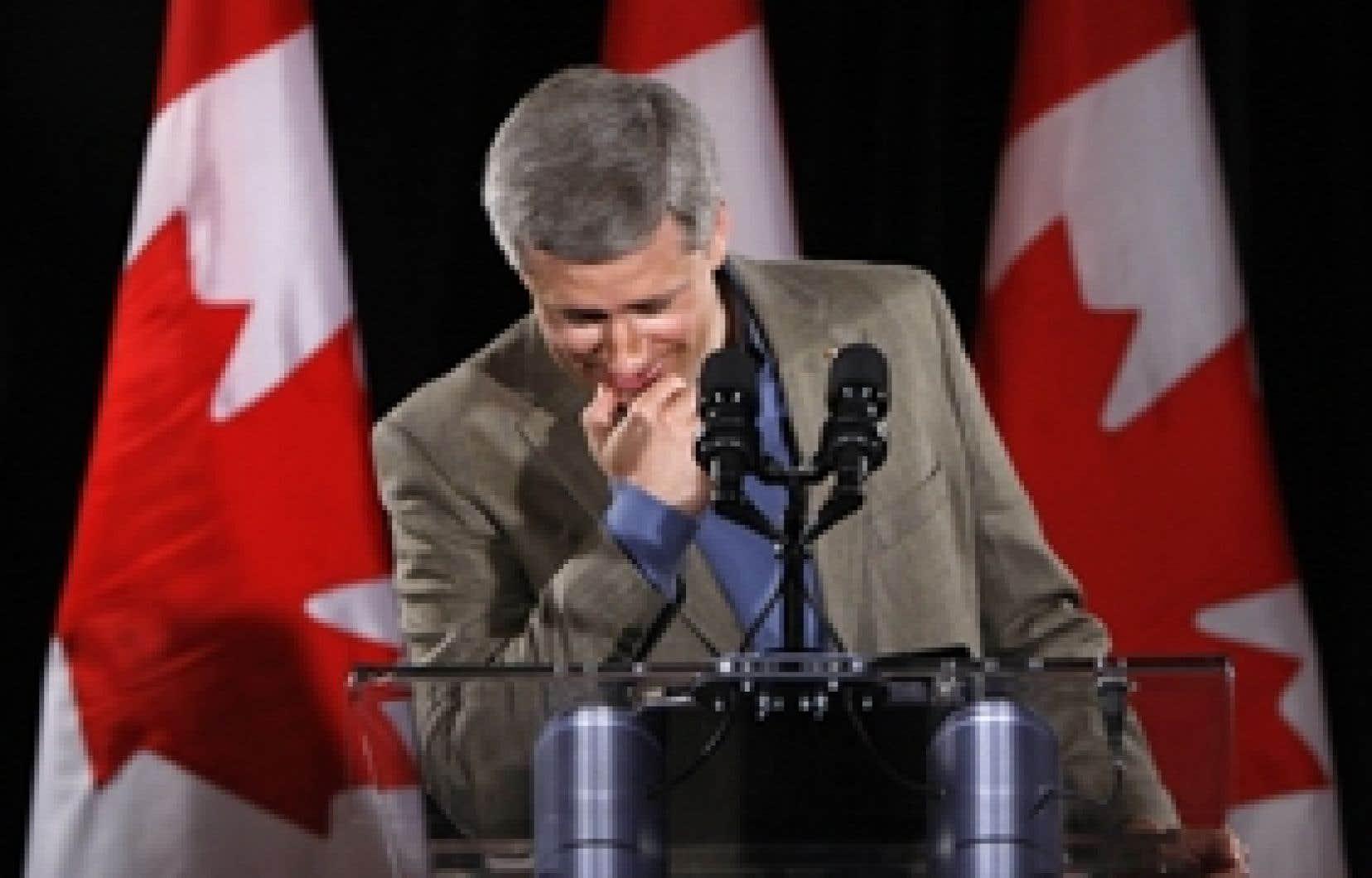 Le parti de Stephen Harper semble s'éloigner d'un gouvernement majoritaire.