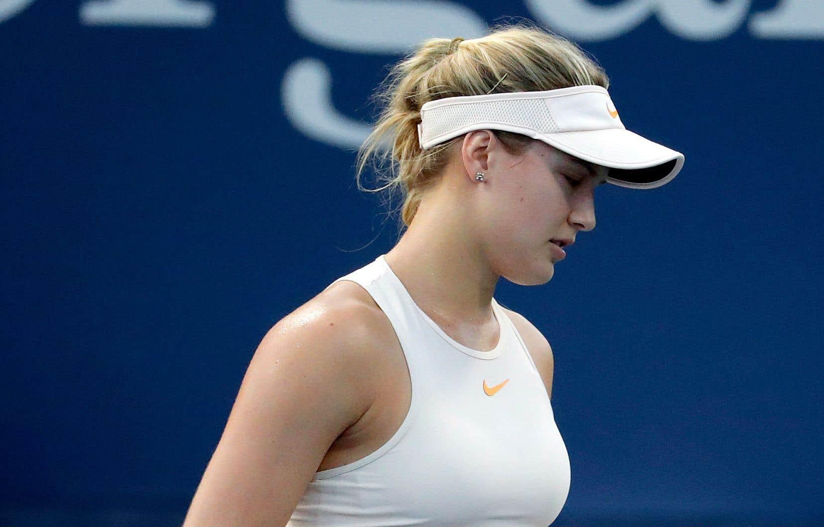 La Montréalaise Eugenie Bouchard a défait la Française Harmony Tan en deux sets de 6-3 et 6-1.