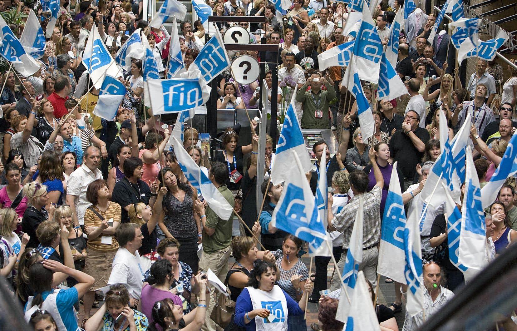 Dans l'ensemble, les partis ignorent plus ou moins la crise des infirmières et des ressources humaines dans le milieu de la santé. Sur notre photo, une manifestation de la Fédération des infirmières du Québec.