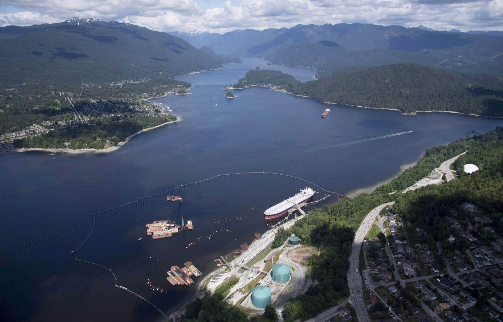 Le terminal portuaire de Trans Mountain, à Burnaby