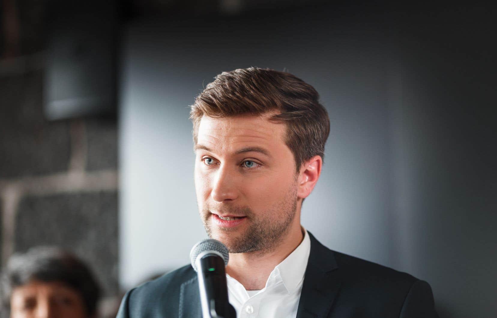 Le co-porte-parole de Québec solidaire Gabriel Nadeau-Dubois