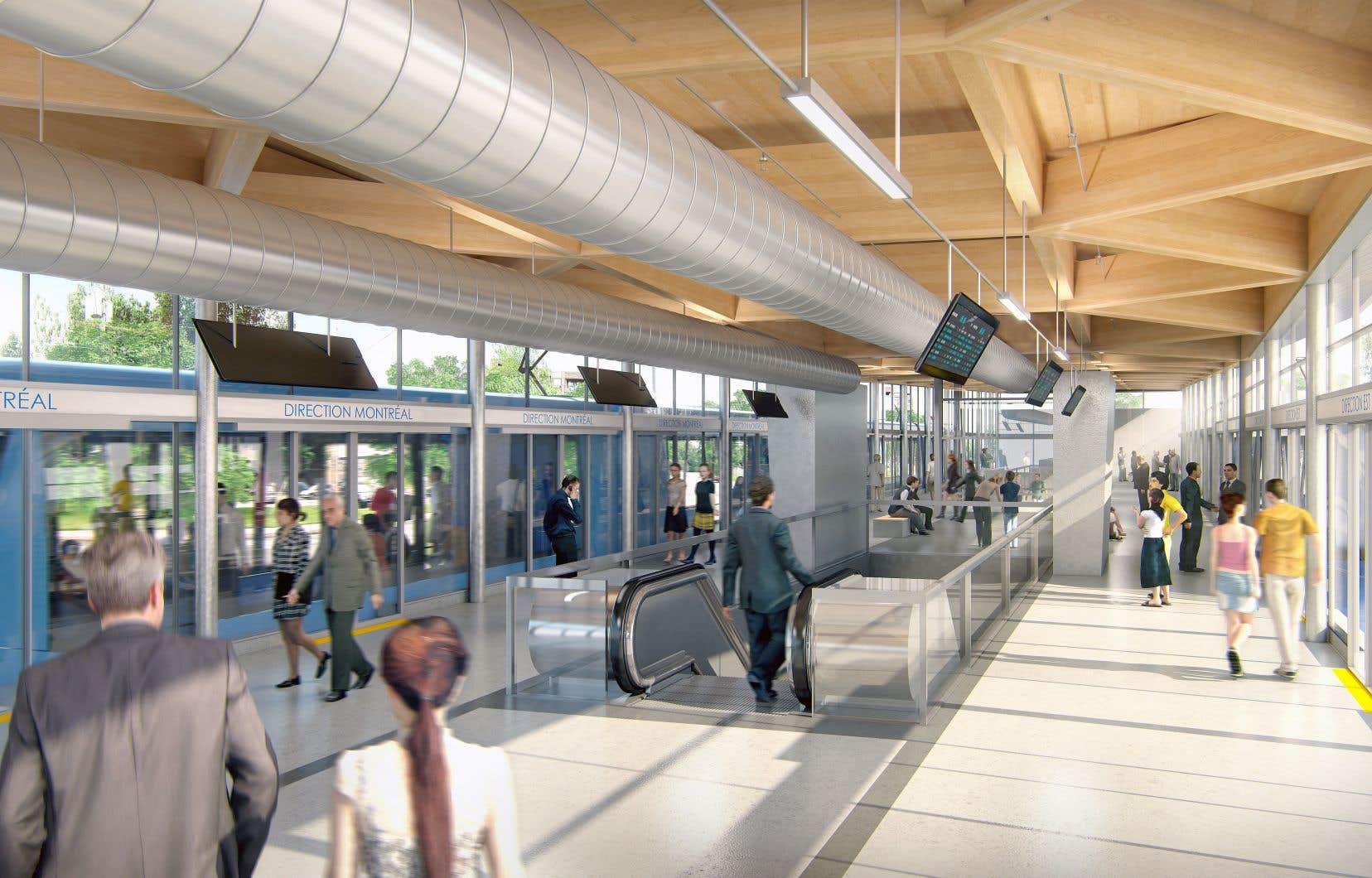 La CAQ veut notamment prolonger le Réseau express métropolitain (REM) à Laval et jusqu'aux limites de la Montérégie.