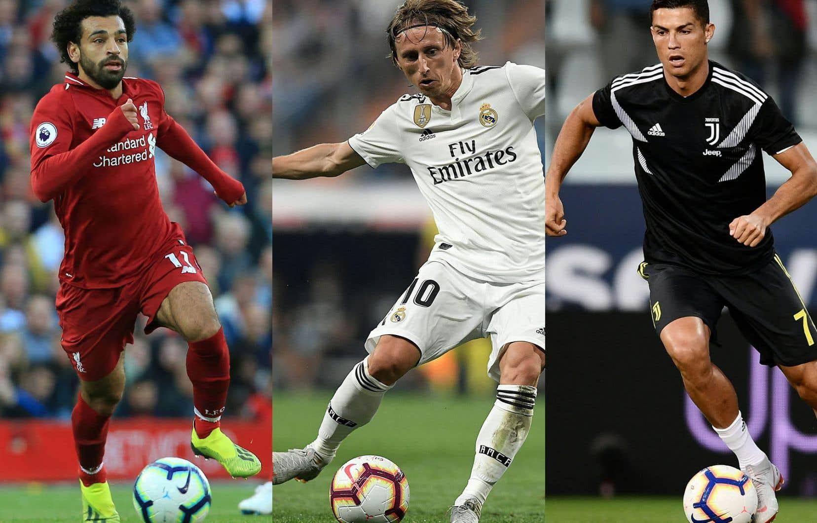 Mohamed Salah, Luka Modric et Cristiano Ronaldo sont les finalistes.