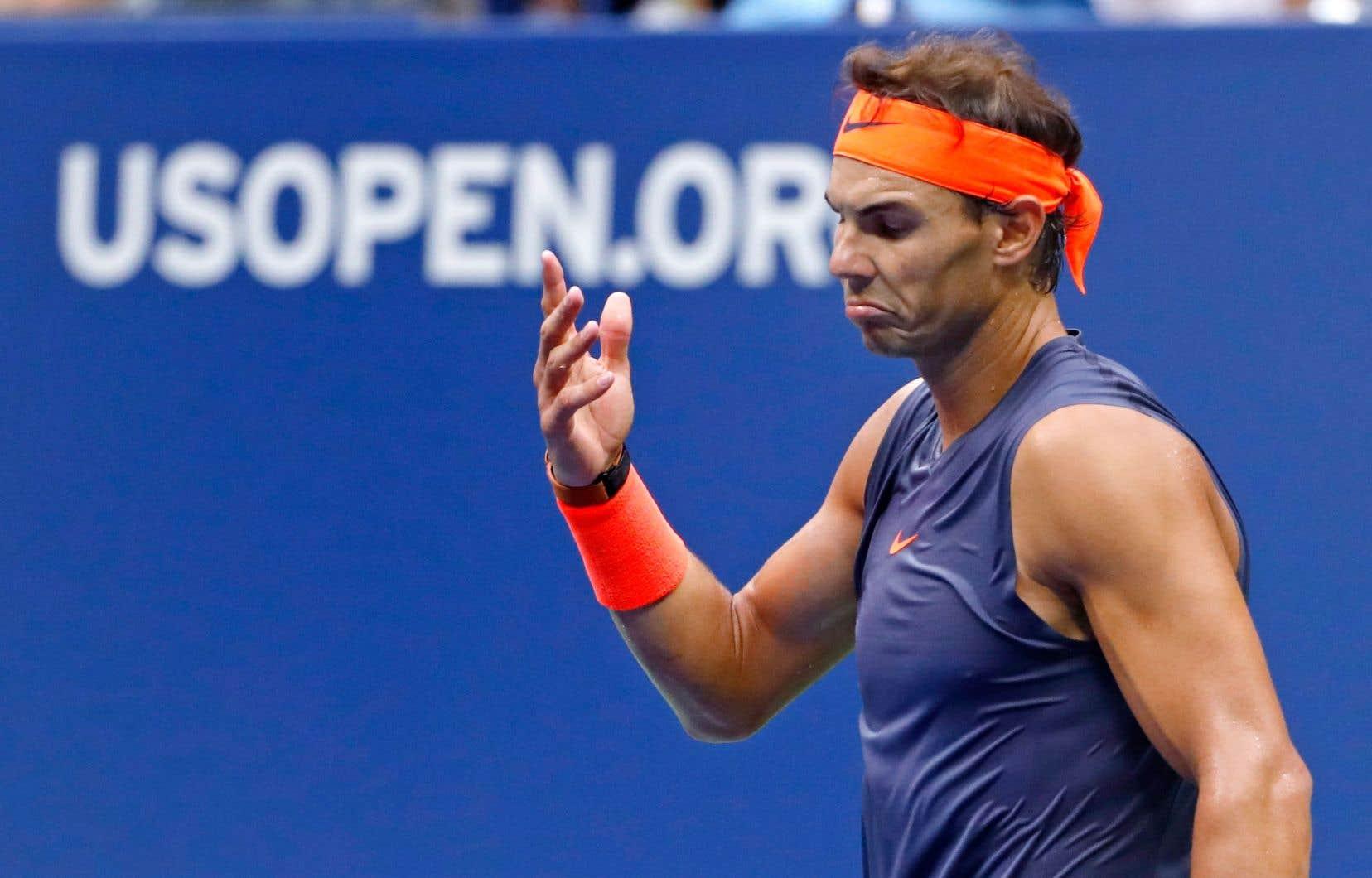 <p>Rafael Nadal tirait de l'arrière 7-6 (3) et 6-2 avant de déclarer forfait.</p>