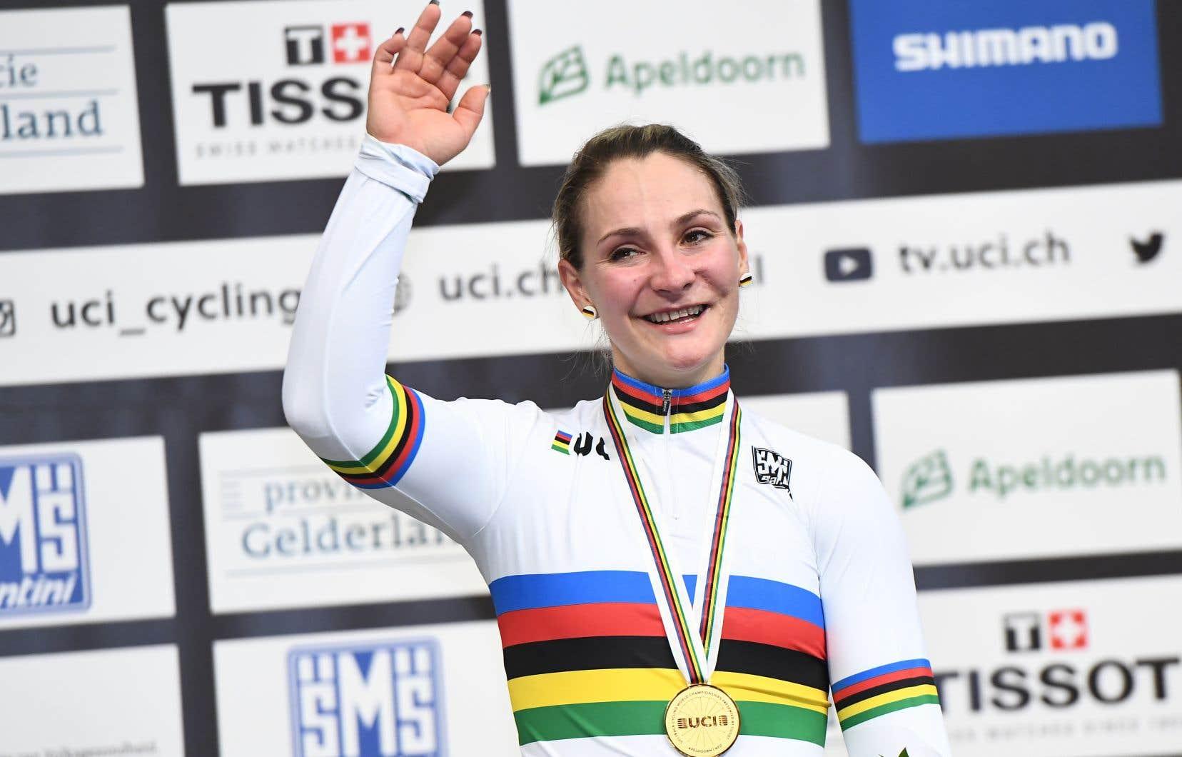 <p>La championne olympique Kristina Vogel, en mars dernier</p>