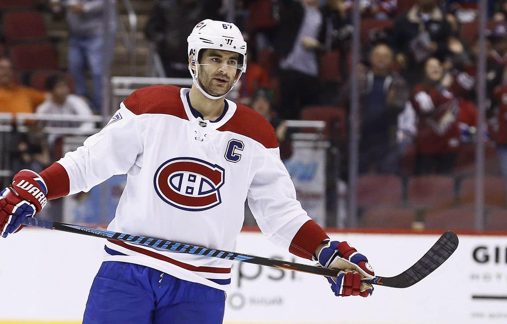 Le capitaine du Canadien de Montréal Max Pacioretty