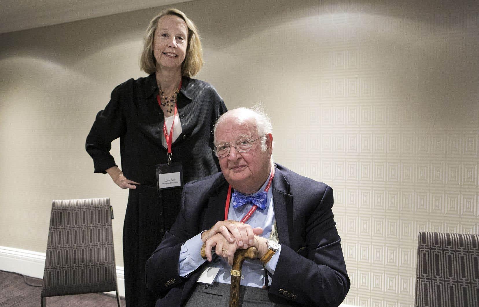 Anne Case et Angus Deaton au congrès annuel de l'association américaine d'histoire économique, à Montréal, le week-end dernier