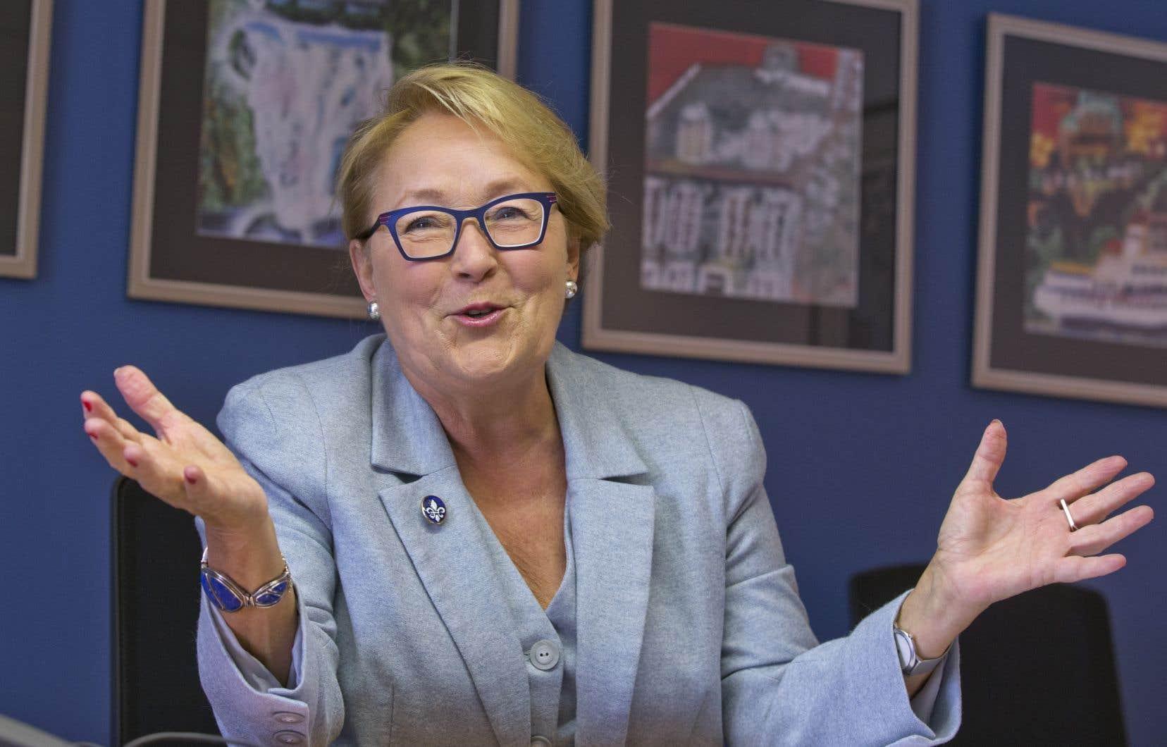 L'ancienne première ministre Pauline Marois