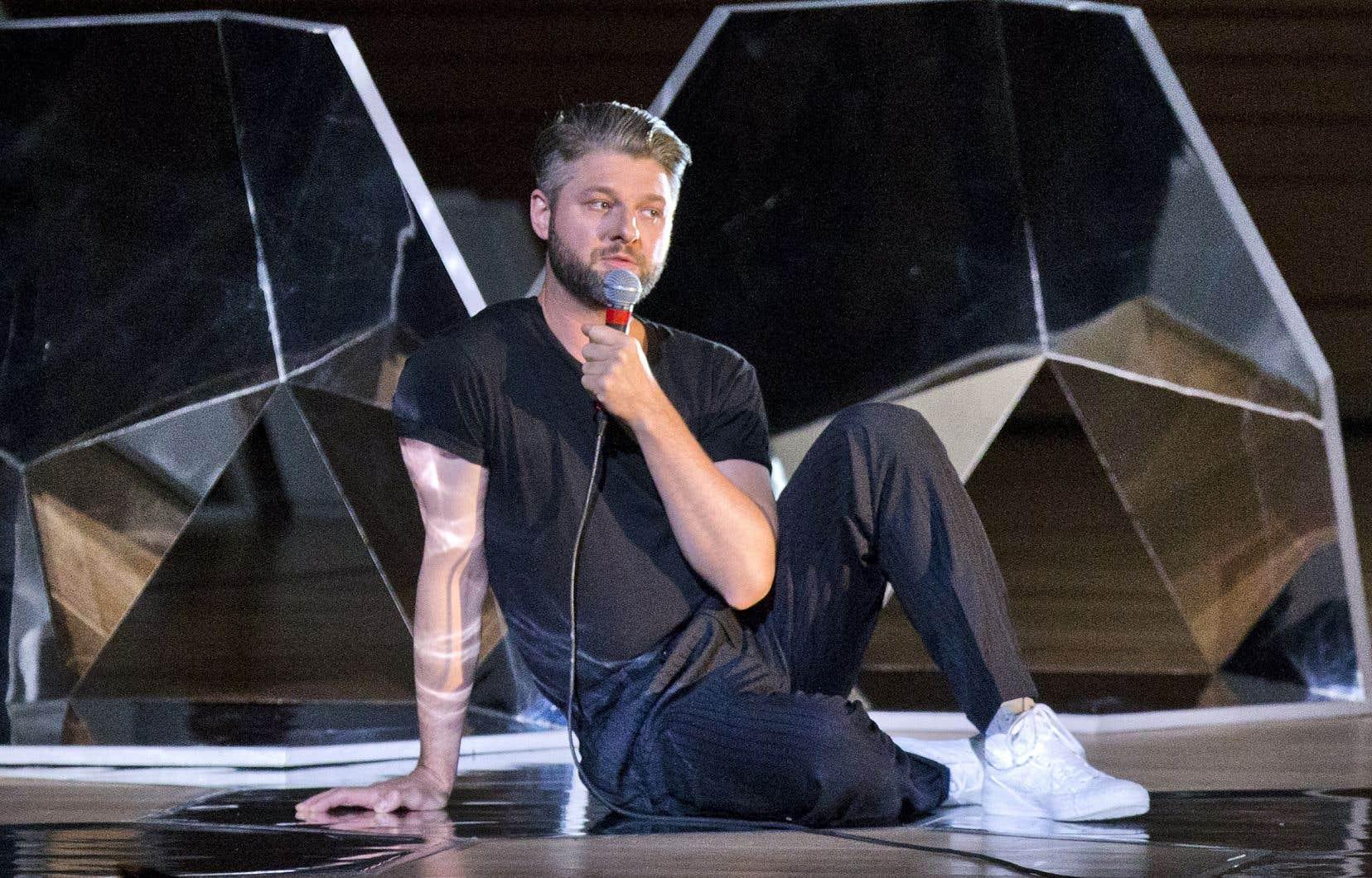 L'artiste Pierre Lapointe,aux FrancoFolies de Montréal en 2017