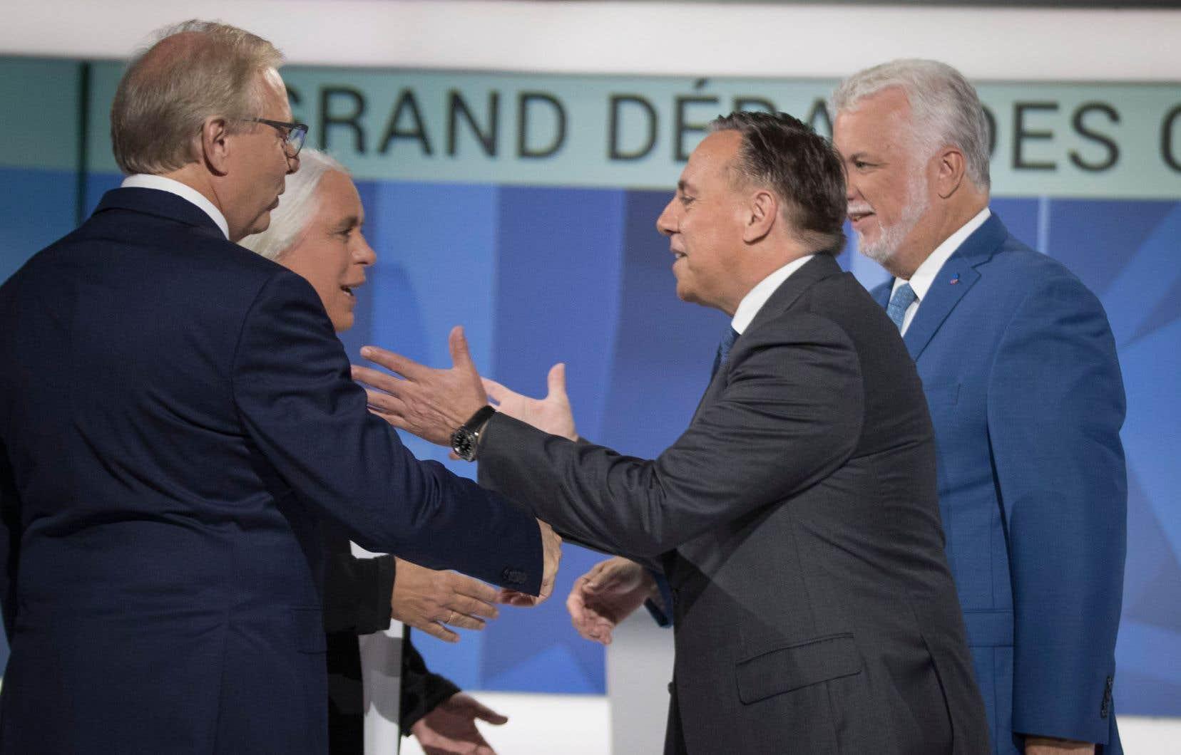 Jean-François Lisée (PQ), Manon Massé (QS), François Legault (CAQ) et Philippe Couillard (PLQ) ont croisé le fer à l'occasion du premier débat des chefs.
