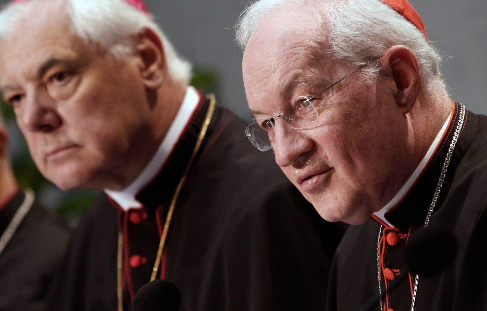 Le cardinal québécois Marc Ouellet a affirmé que l'Église devait faire preuve de plus de «prudence» dans le choix de ses évêques.