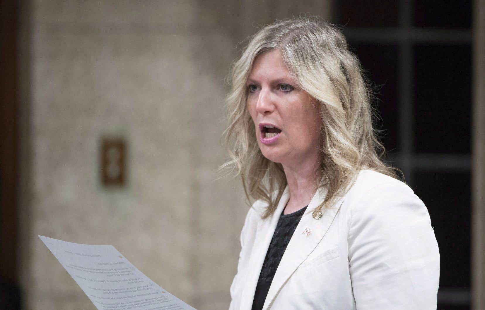 La députée d'Aurora-Oak Ridges-Richmond Hill, Leona Alleslev