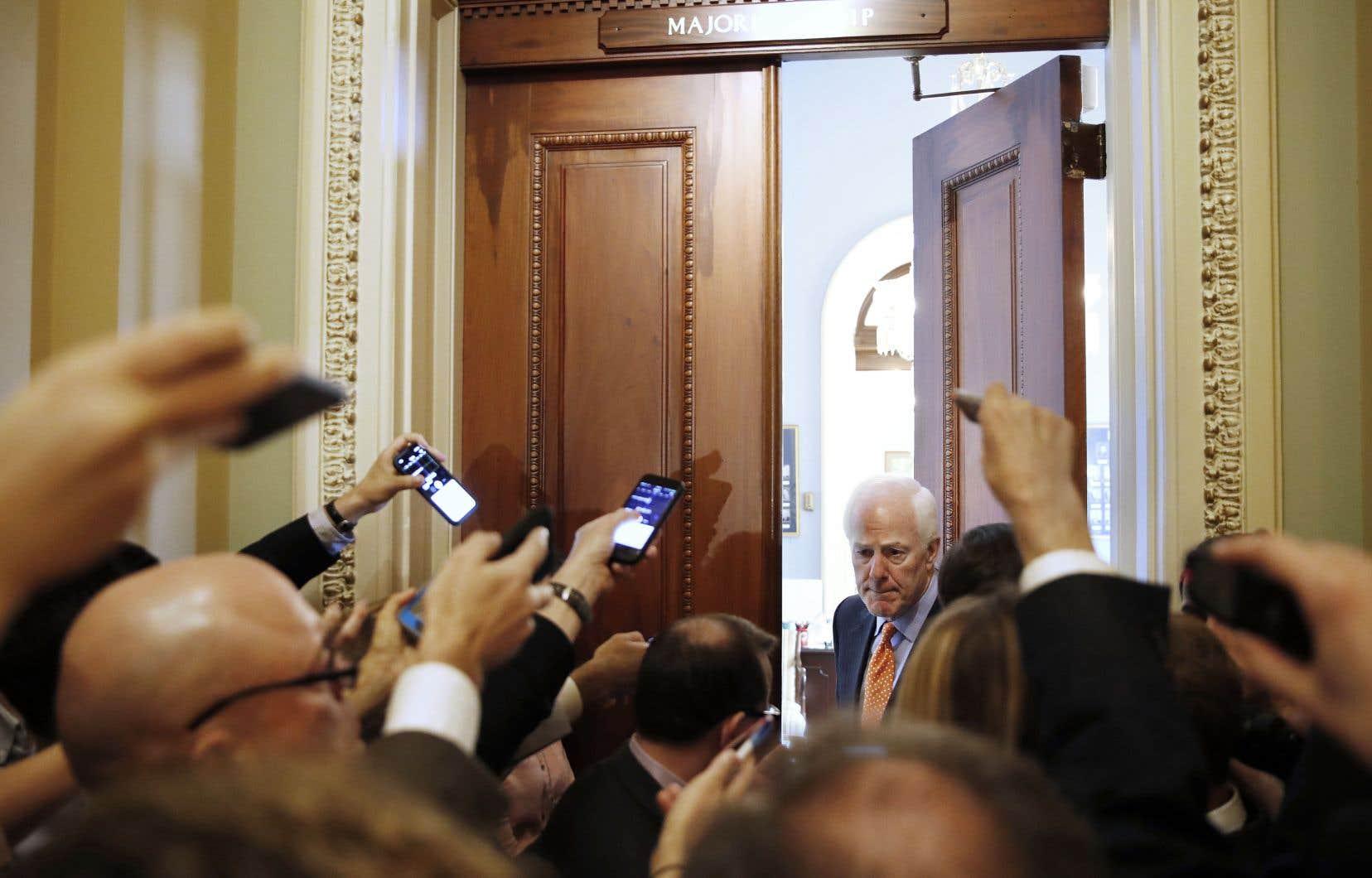 John Cornyn, numéro deux des républicains au Congrès, a répondu aux questions des journalistes, mardi à Washington.