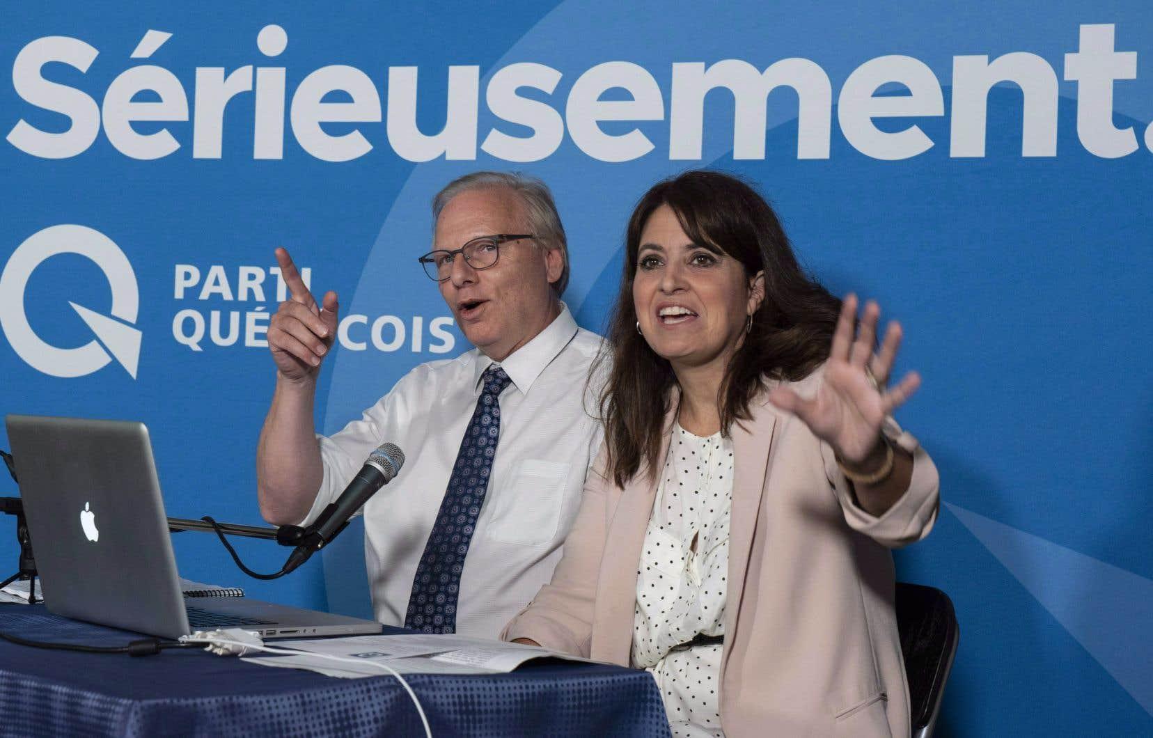 Le chef du PQ, Jean-François Lisée, et la vice-chef du PQ, Véronique Hivon