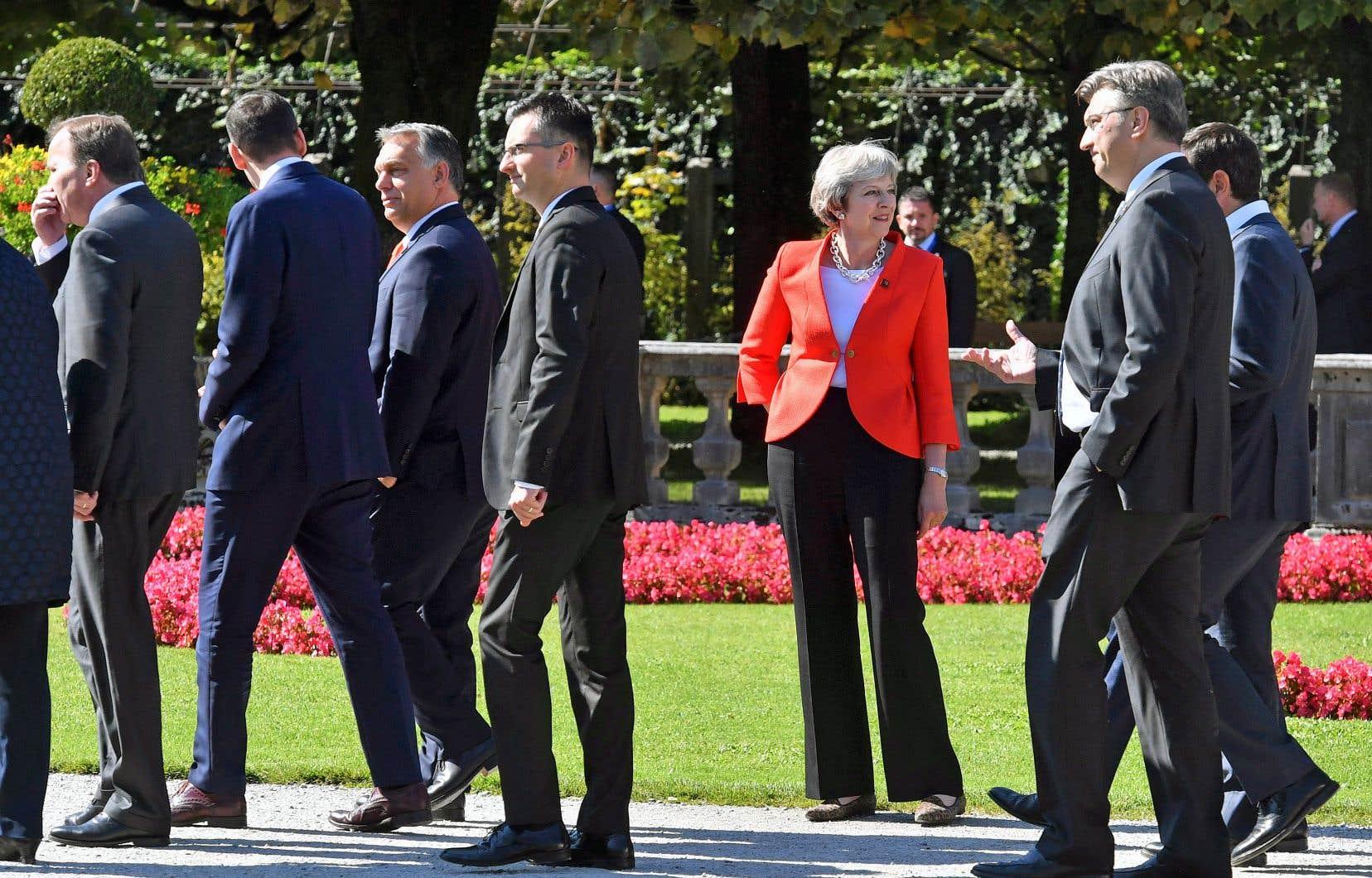 La première ministre britannique, Theresa May, rencontrait cette semaine à Salzbourg, en Autriche, les autres dirigeants de l'Union européenne.