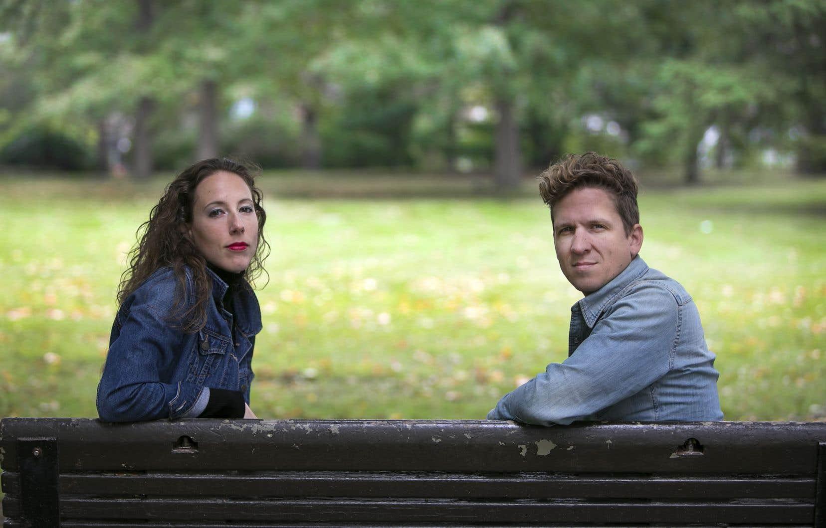 Le duo est formé par Ariane Ouellet et Carl Prévost.