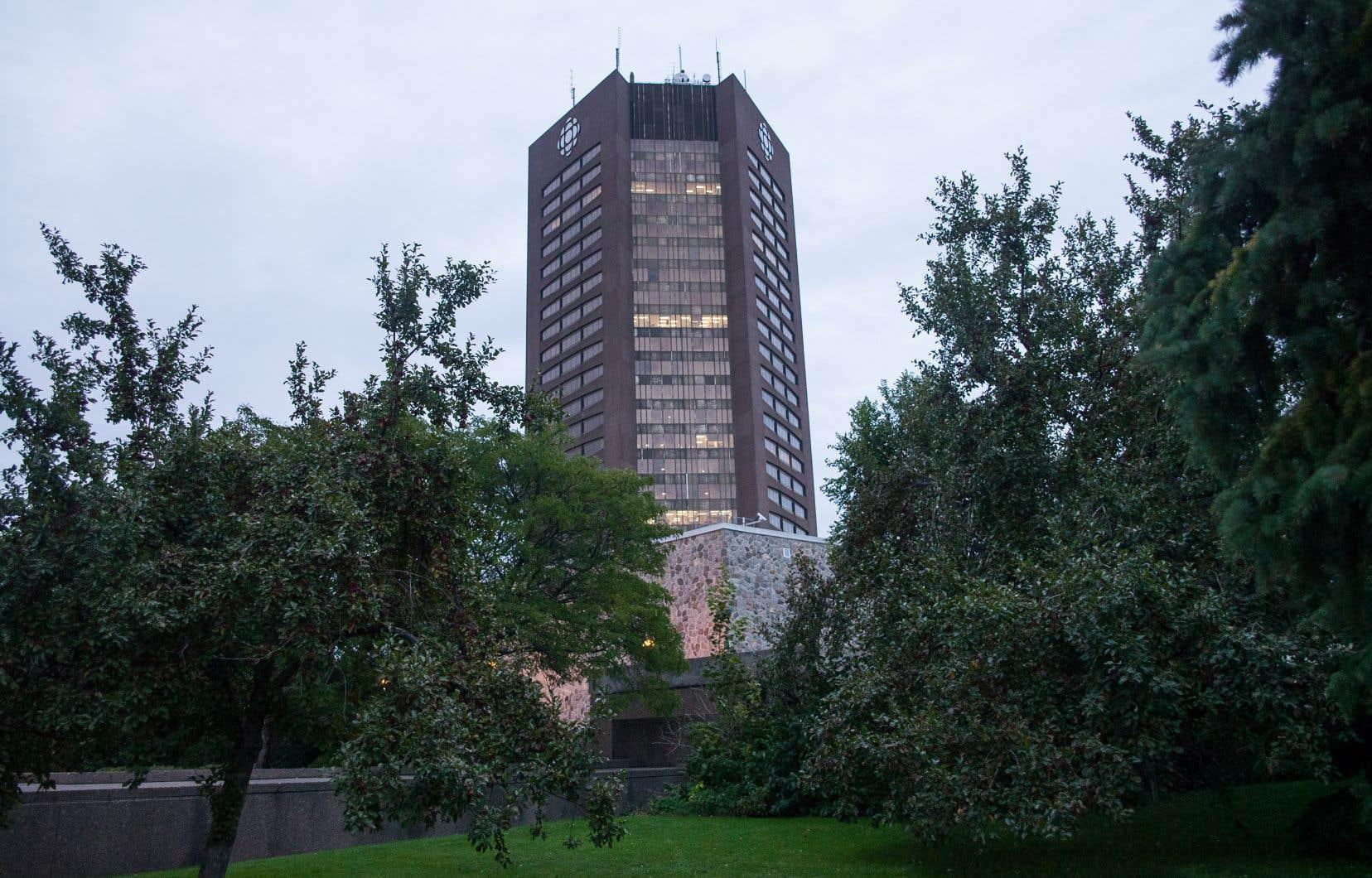 La tour de Radio-Canada, boulevard René-Lévesque