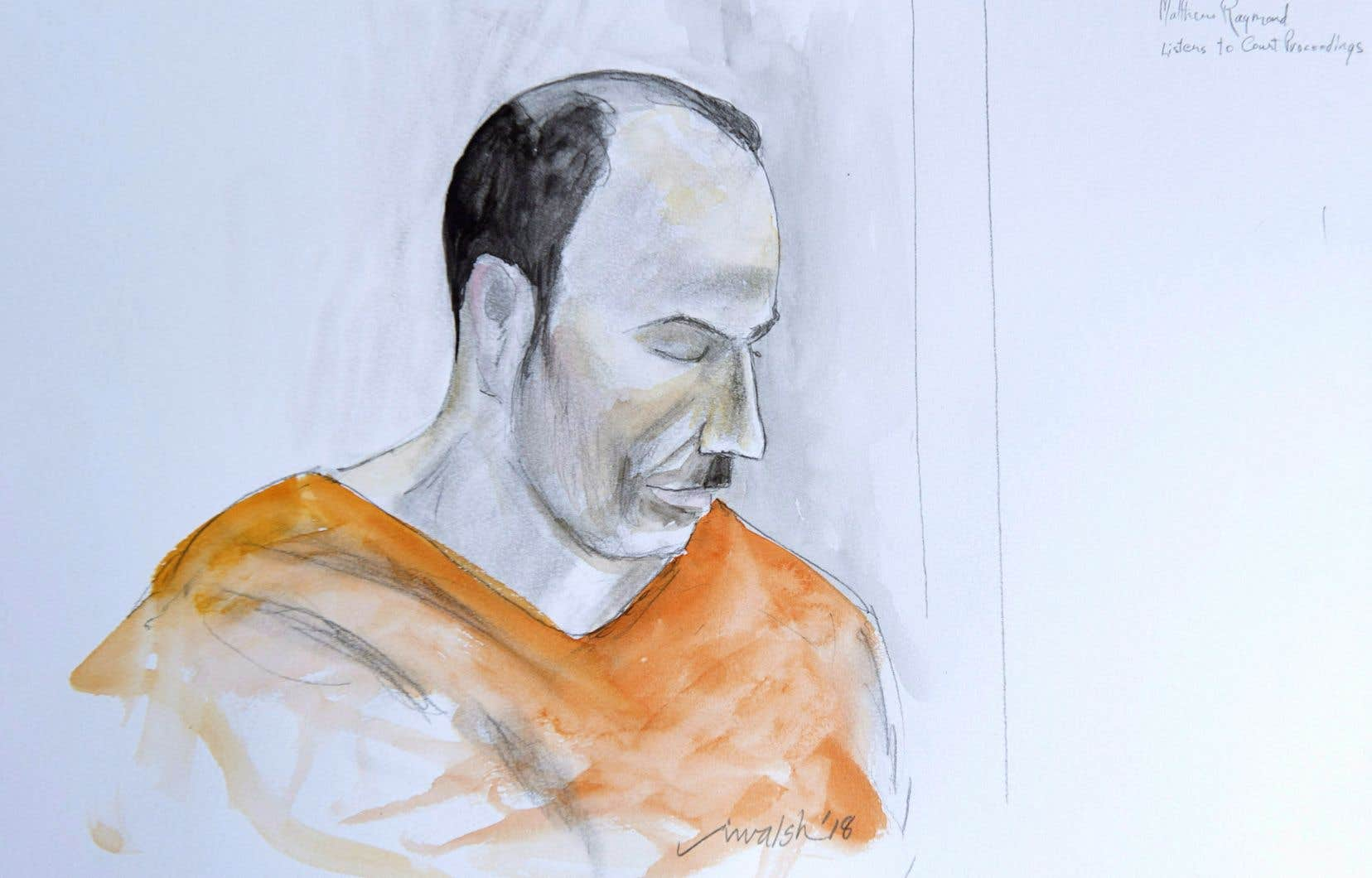 Matthew Vincent Raymond fait face à quatre chefs d'accusation de meurtre relativement à la fusillade de Fredericton.