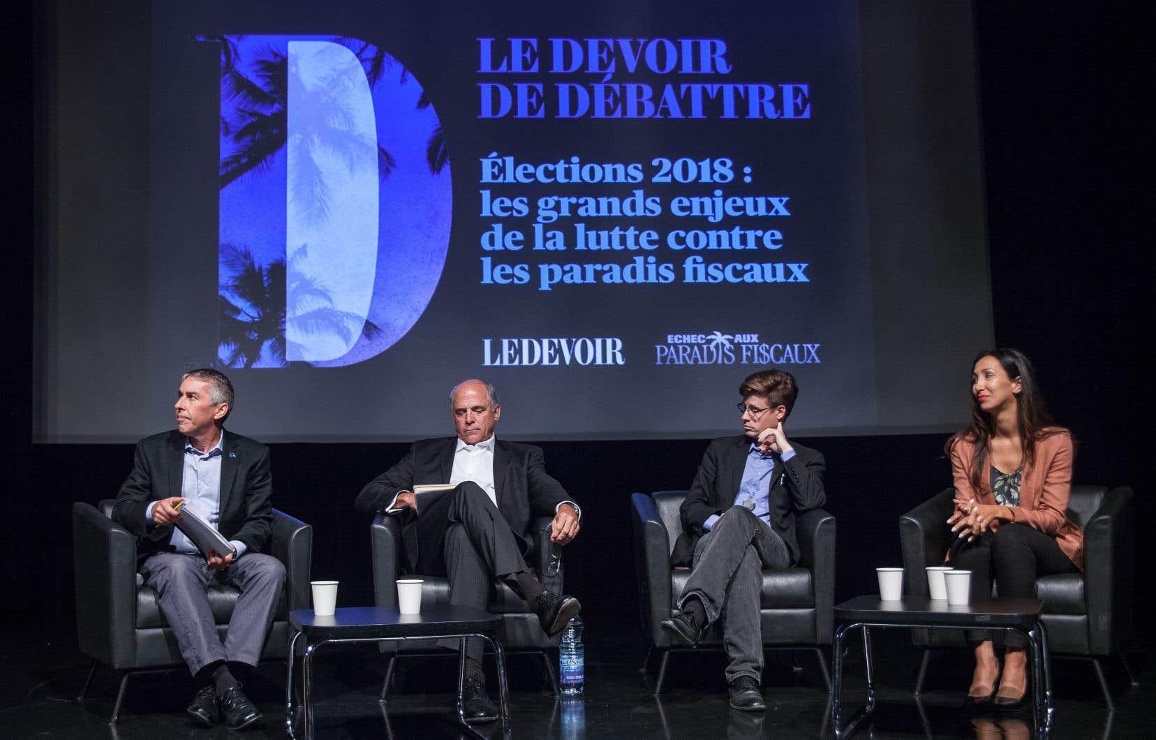 Les quatre candidats ont exprimé d'un commun accord la pertinence de lutter contre les paradis fiscaux. Les discussions ont donc tourné autour des moyens à mettre en avant pour ce faire, notamment.