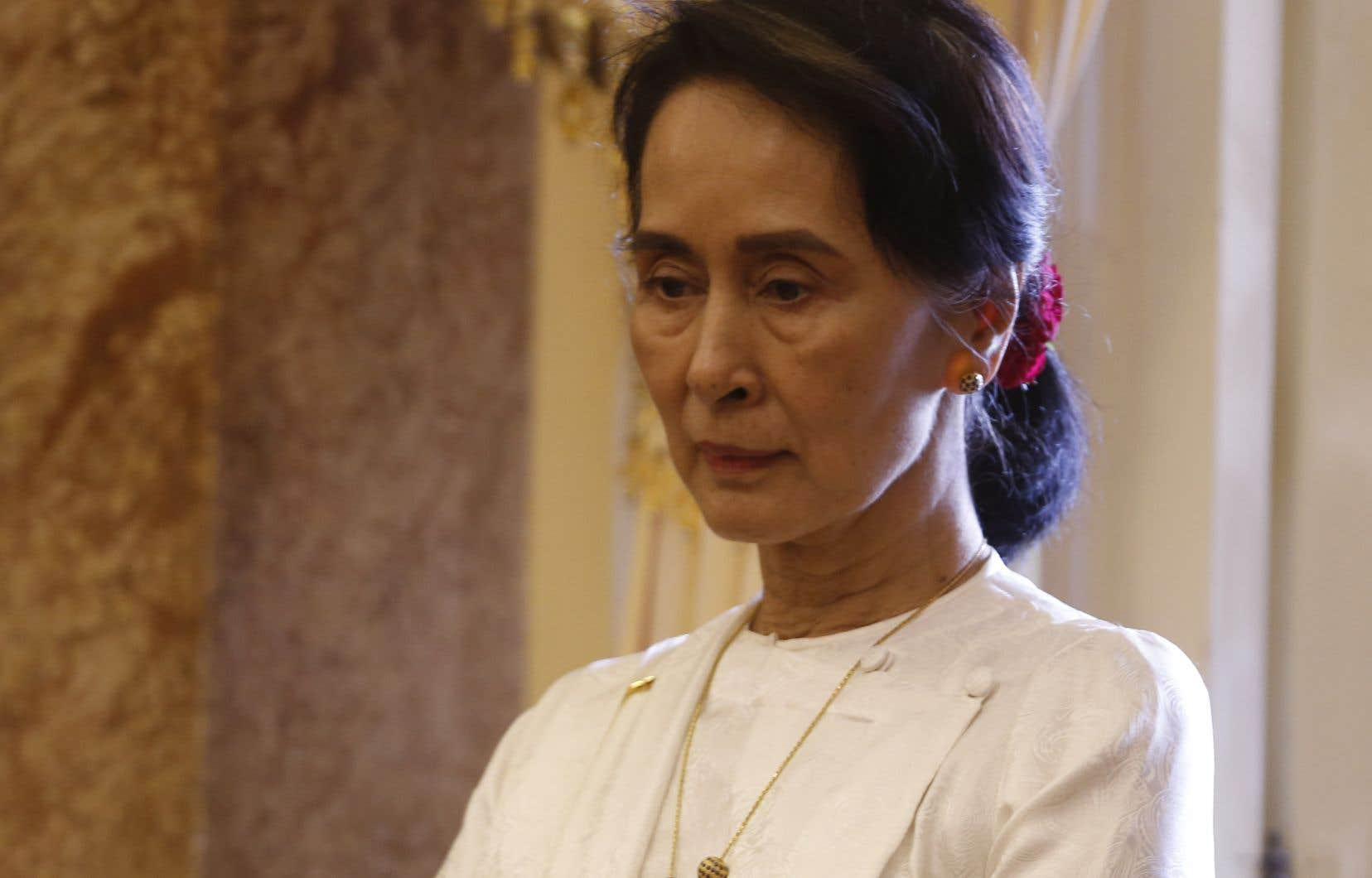 La dirigeante myanmaraise Aung San Suu Kyi