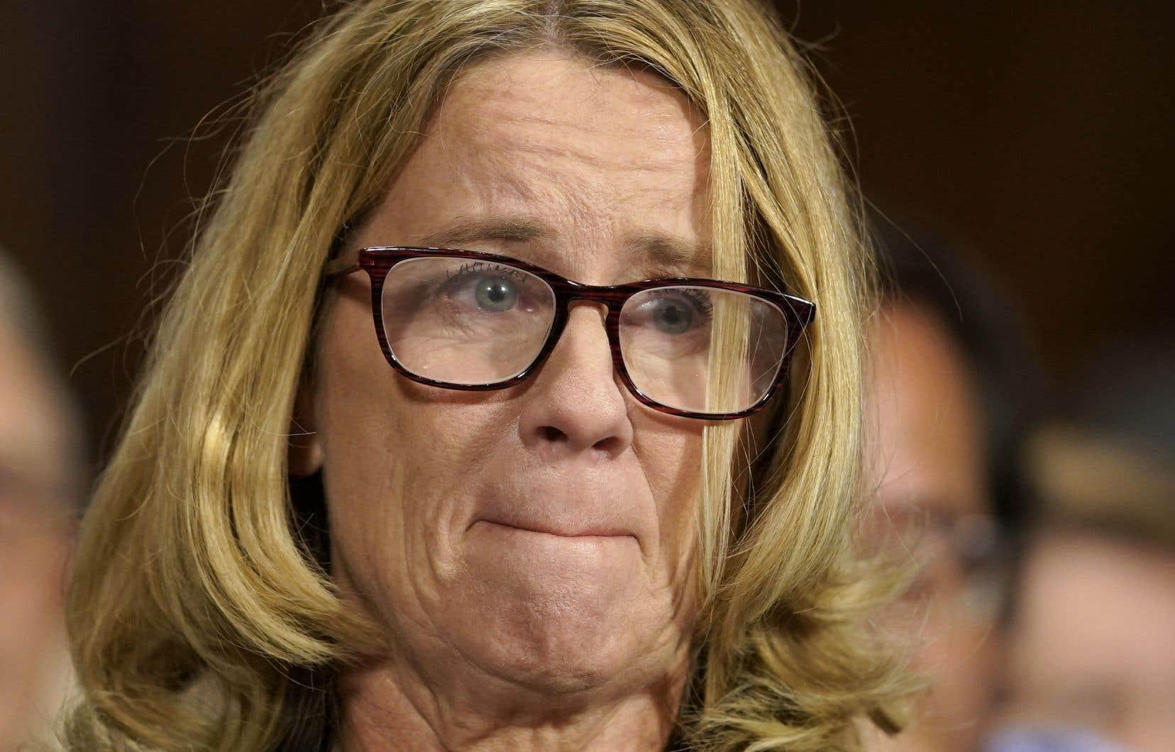 <p>Le «courage» de MmeBlasey Ford a été loué par les sénateurs démocrates, et même certains républicains.</p>