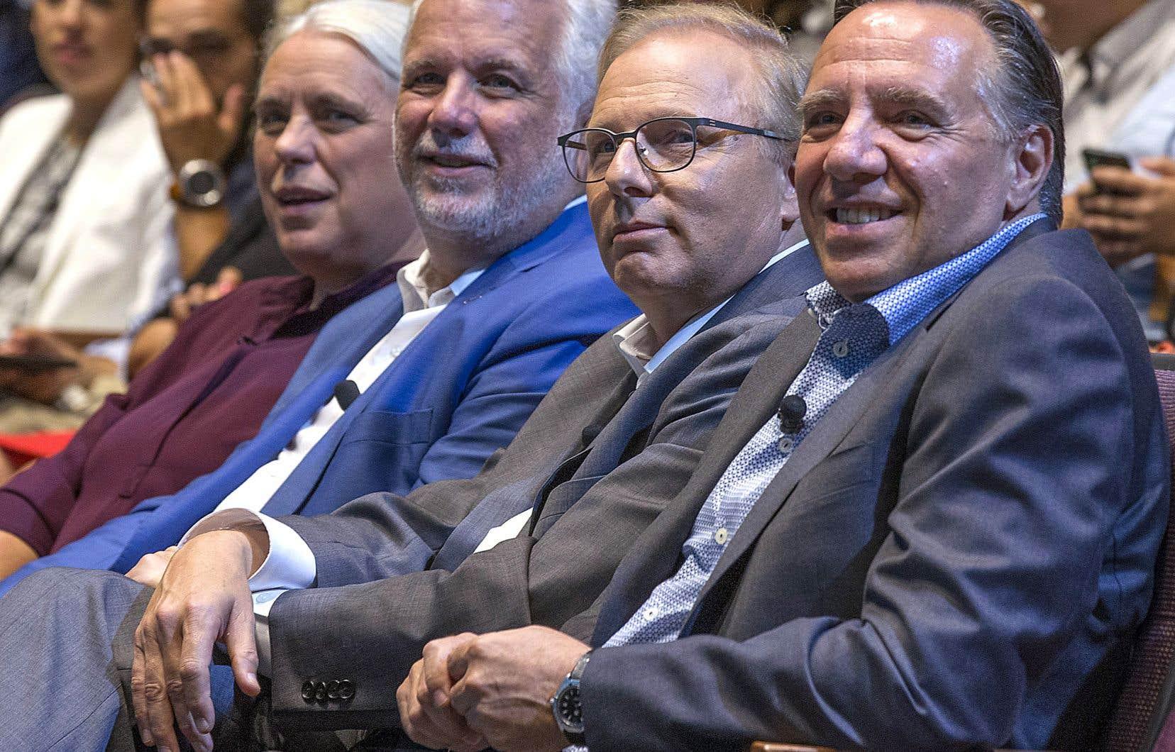 Les quatre chefs lors d'un débat pendant la campagne électorale