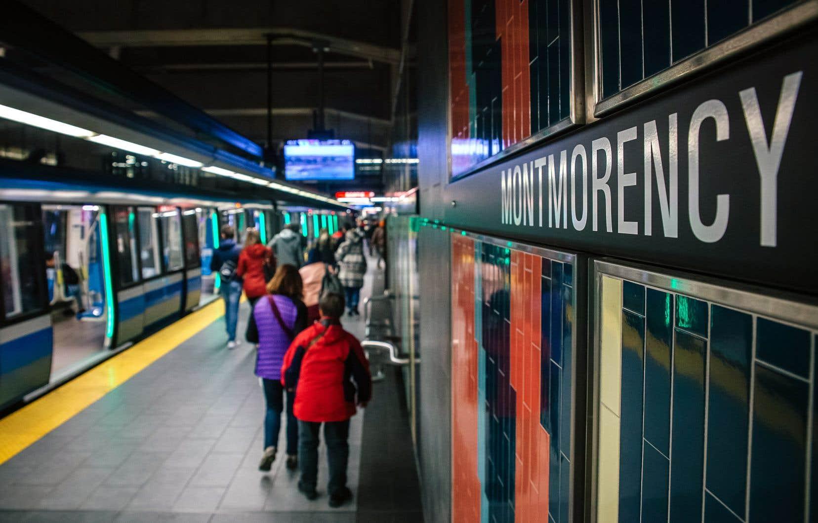 Le prolongement du métro à Laval jusqu'à la station Montmorency, en 2007, est le dernier projet d'envergure qui a été réalisé auQuébec en matière de transport collectif.
