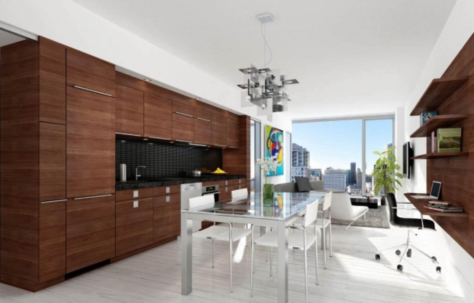 Modèle de cuisine proposé au Triomphe