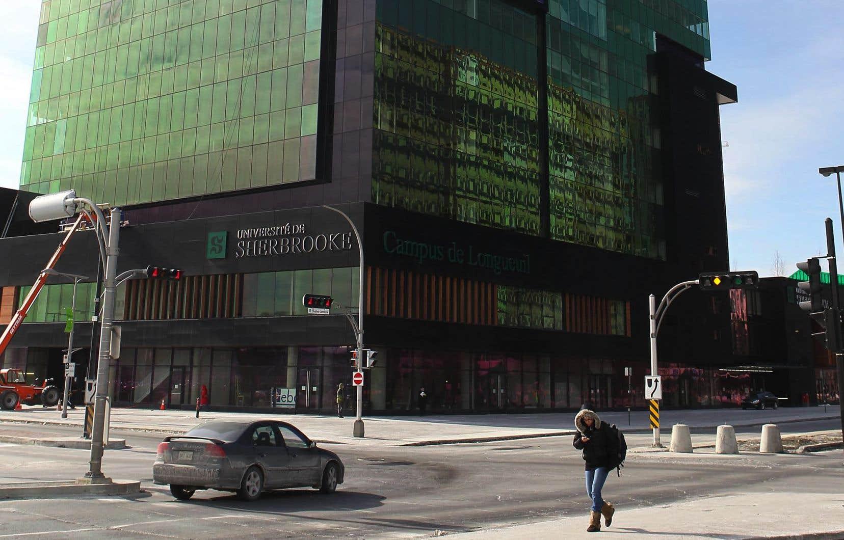 Le campus de Longueuil de l'Université Sherbrooke. « Les étudiants vont passer une partie de leur vie ici, c'est primordial que le cadre leur plaise et qu'ils puissent s'y épanouir », estime Nicolas Grandmangin.
