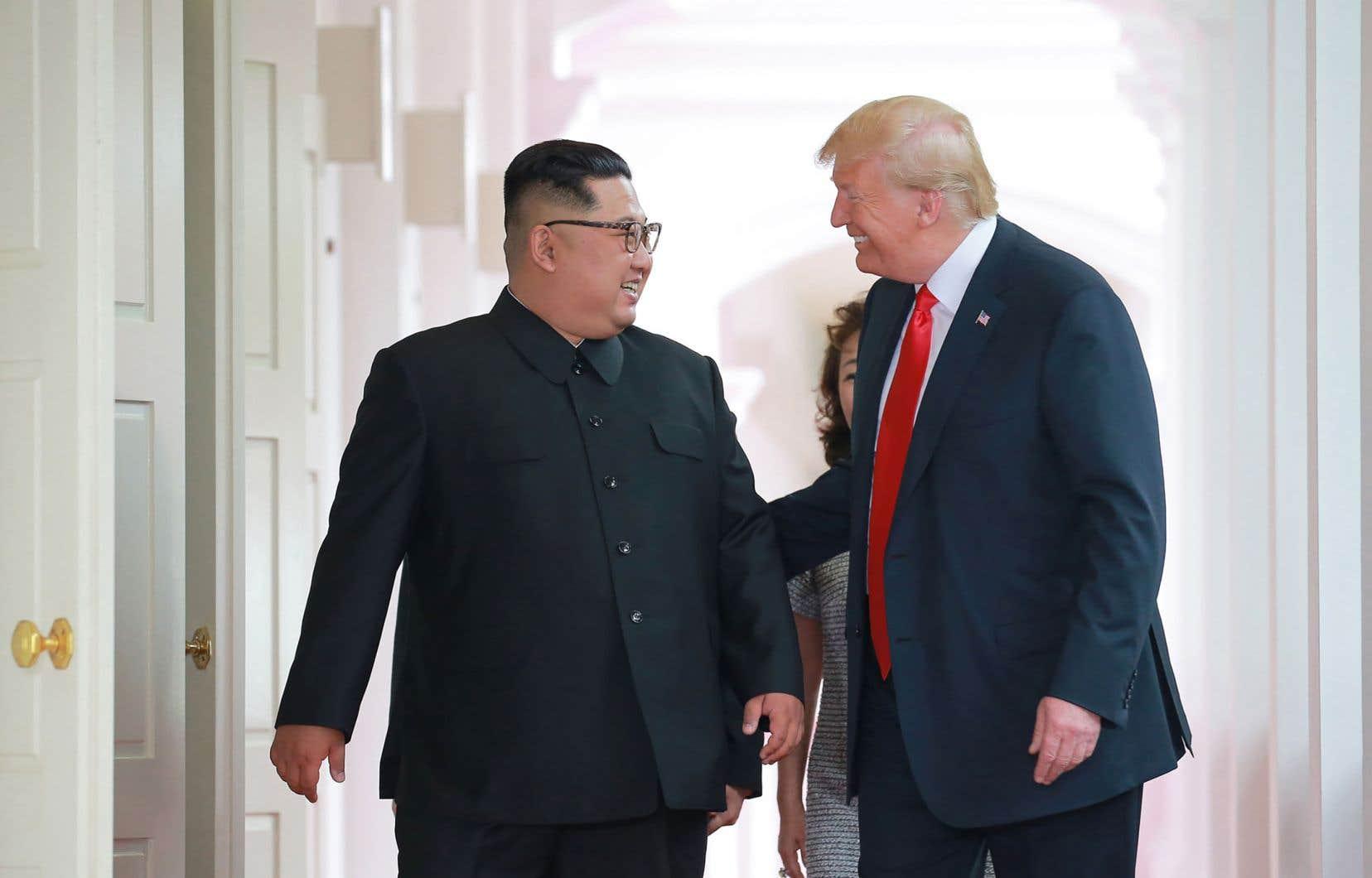 Les présidents Donald Trump et Kim Jong-un ont tenu un premier sommet diplomatique en juin dernier, à Singapour.