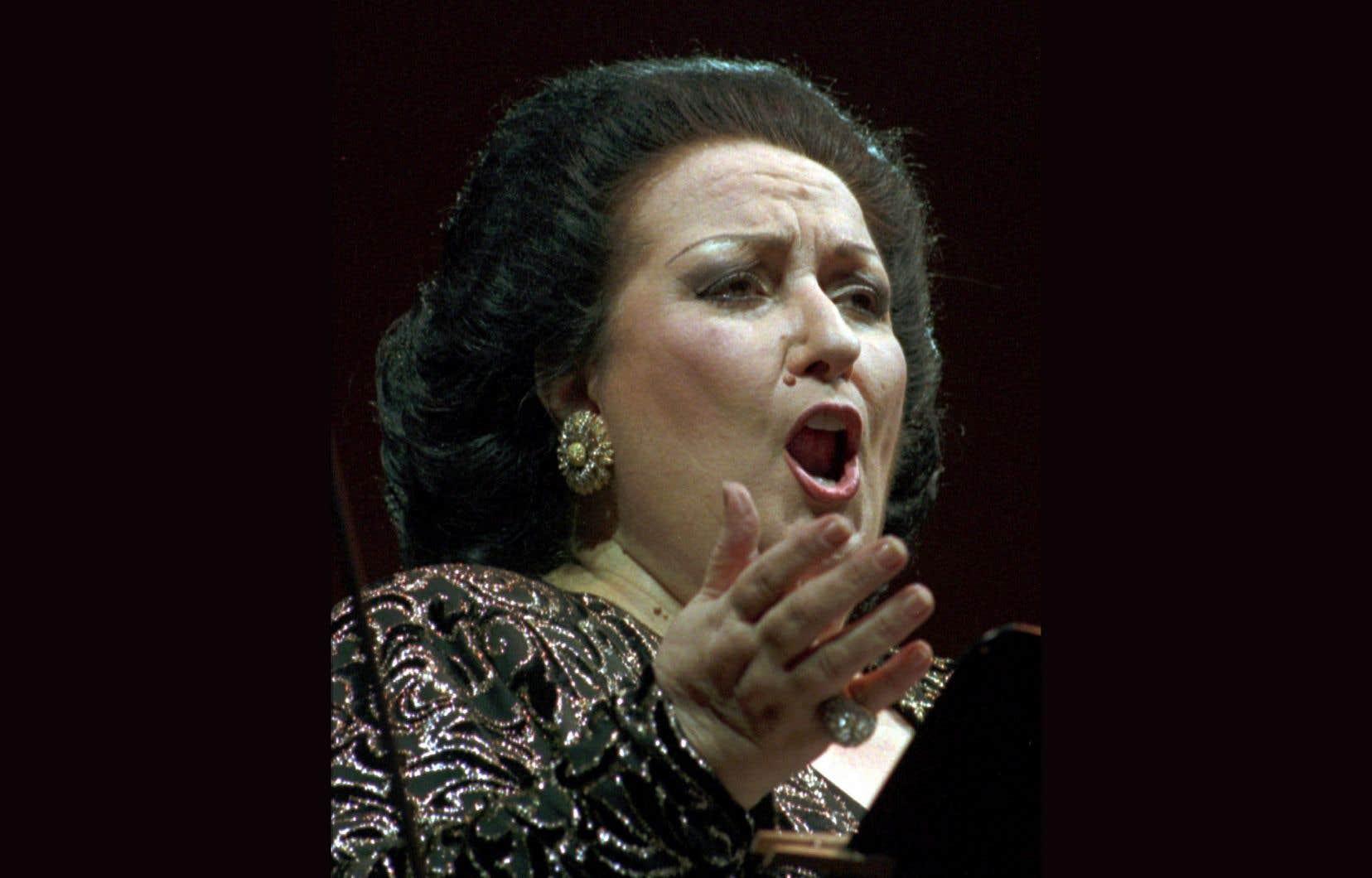 Montserrat Caballé lors d'un concert à Dresde, en Allemagne, en 1996