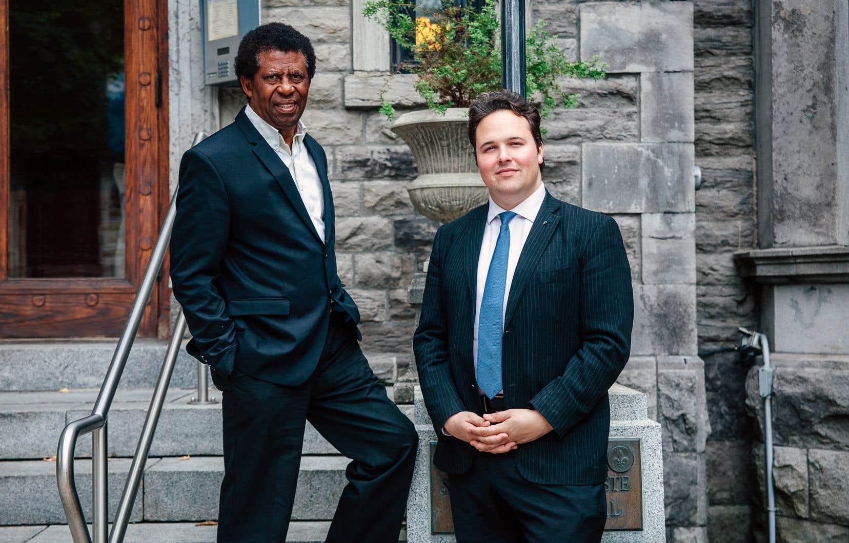 Dany Laferrière et Maxime Laporte œuvreront respectivement comme président d'honneur et président de la Fondation pour la langue française.
