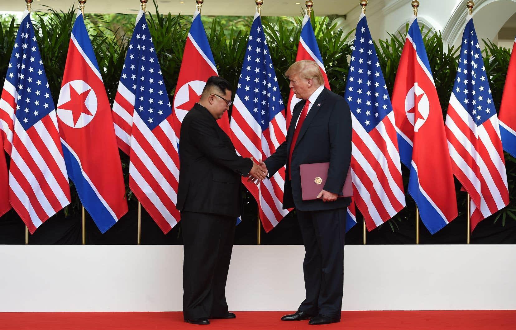 En juin dernier, Donald Trump etKim Jong-un s'étaient rencontrés à Singapour pour un sommet historique.