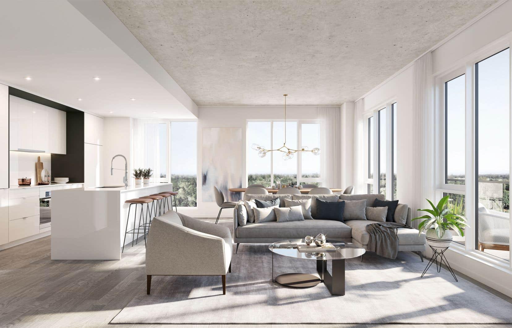 <p>Les appartements du Quatrième sont d'un style contemporain épuré et urbain.</p>