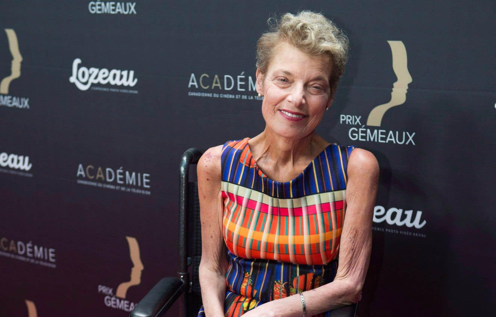 La comédienne Johanne Fontaine au gala des Gémeaux, le 16 septembre dernier