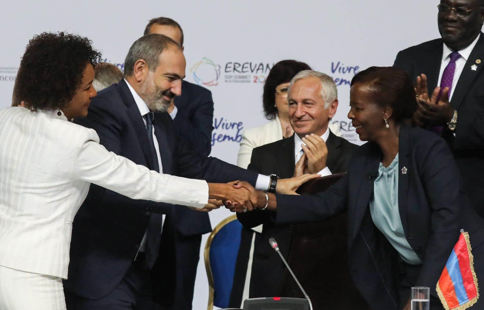 Le XVIIe Sommet de la Francophonie s'est terminé par l'élection de la Rwandaise Louise Mushikiwabo au secrétariat général de l'Organisation internationale de la Francophonie (OIF).