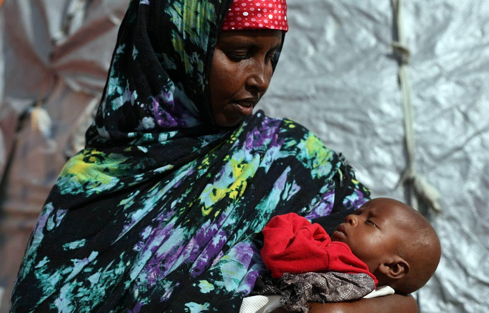 La Somalie fait partie de sept pays dont la situation préoccupe grandement lesONG ConcernWorldwide et Welthungerhilfe. Dans ce pays,le taux de mortalité infantile avant cinq ans atteint 13,3%.