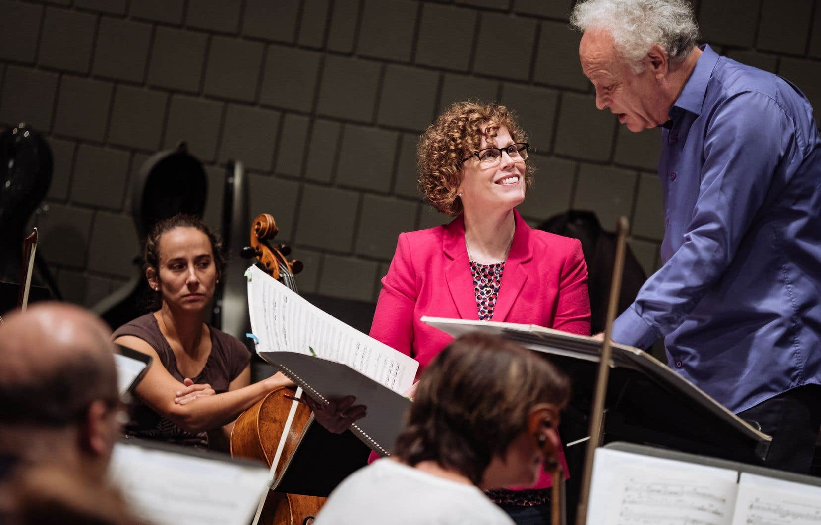 La compositriceKelly-Marie Murphy et le musicien Yoav Talmi en répétition